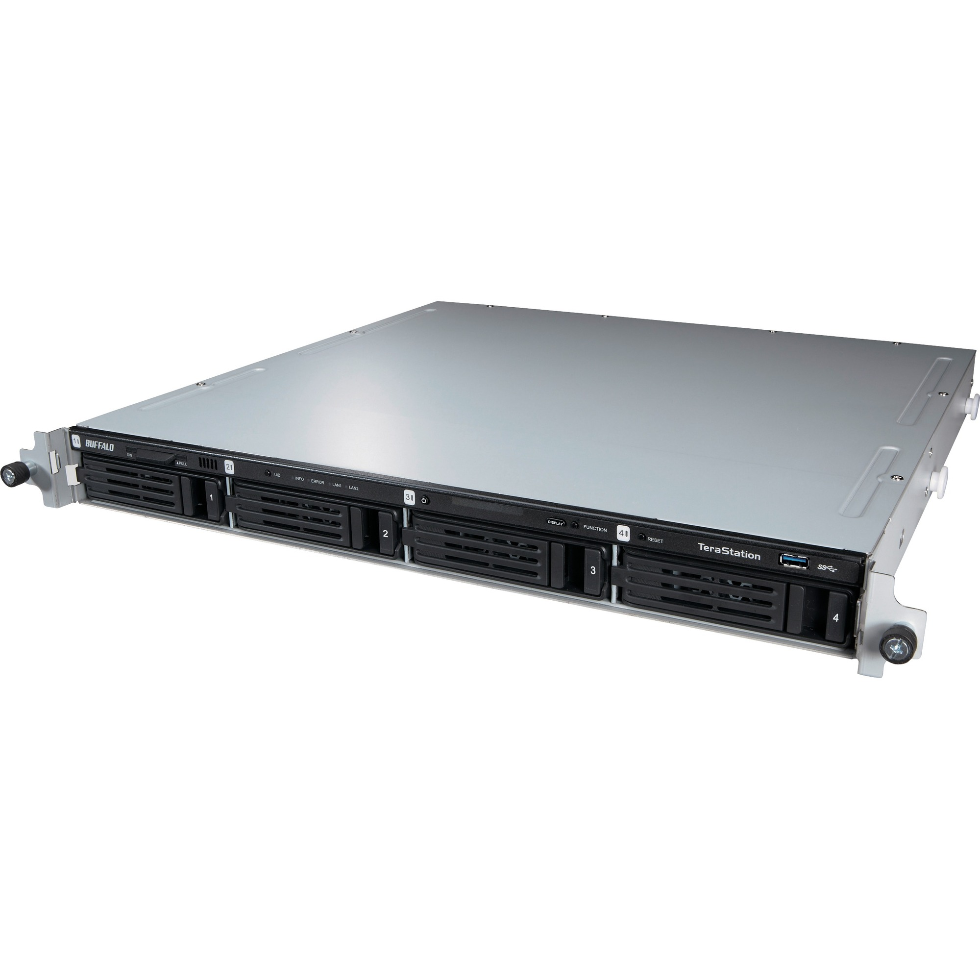 Buffalo TeraStation 4 x Total Bays NAS Server - Rack-mountable - Intel Atom D2700 Dual-core 2.13 GHz