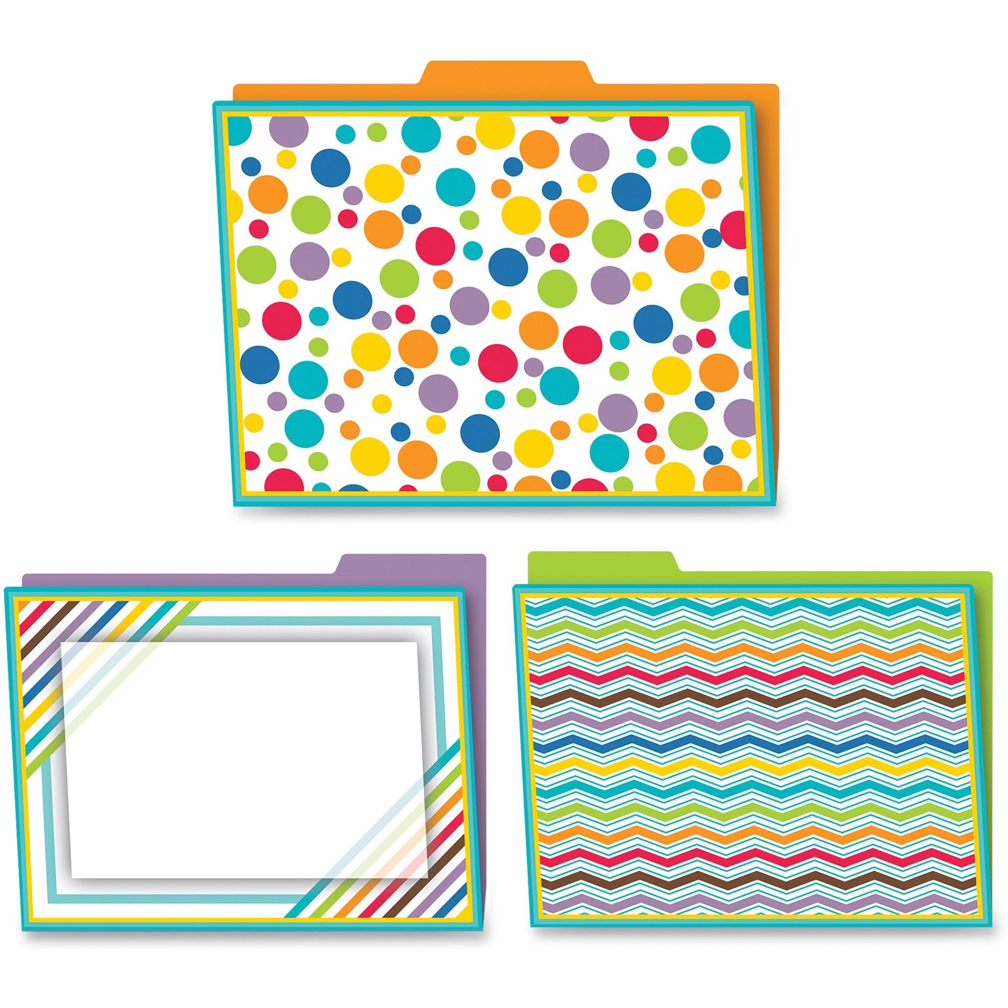 Multi-colored Carson-dellosa Bubbly Blues File Folders Set 6 // cdp136002