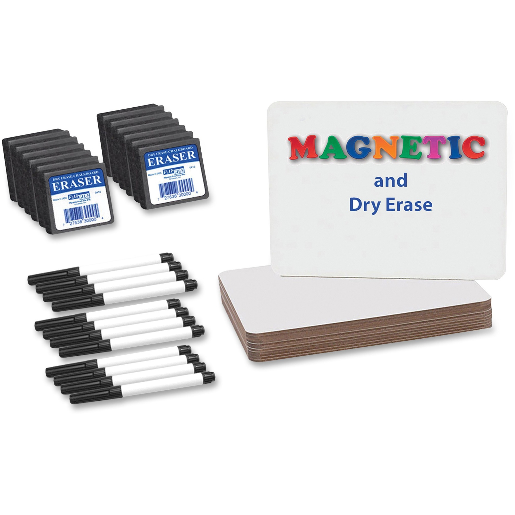 Flipside Magnetic Dry Erase Board Set Class Pack - 9