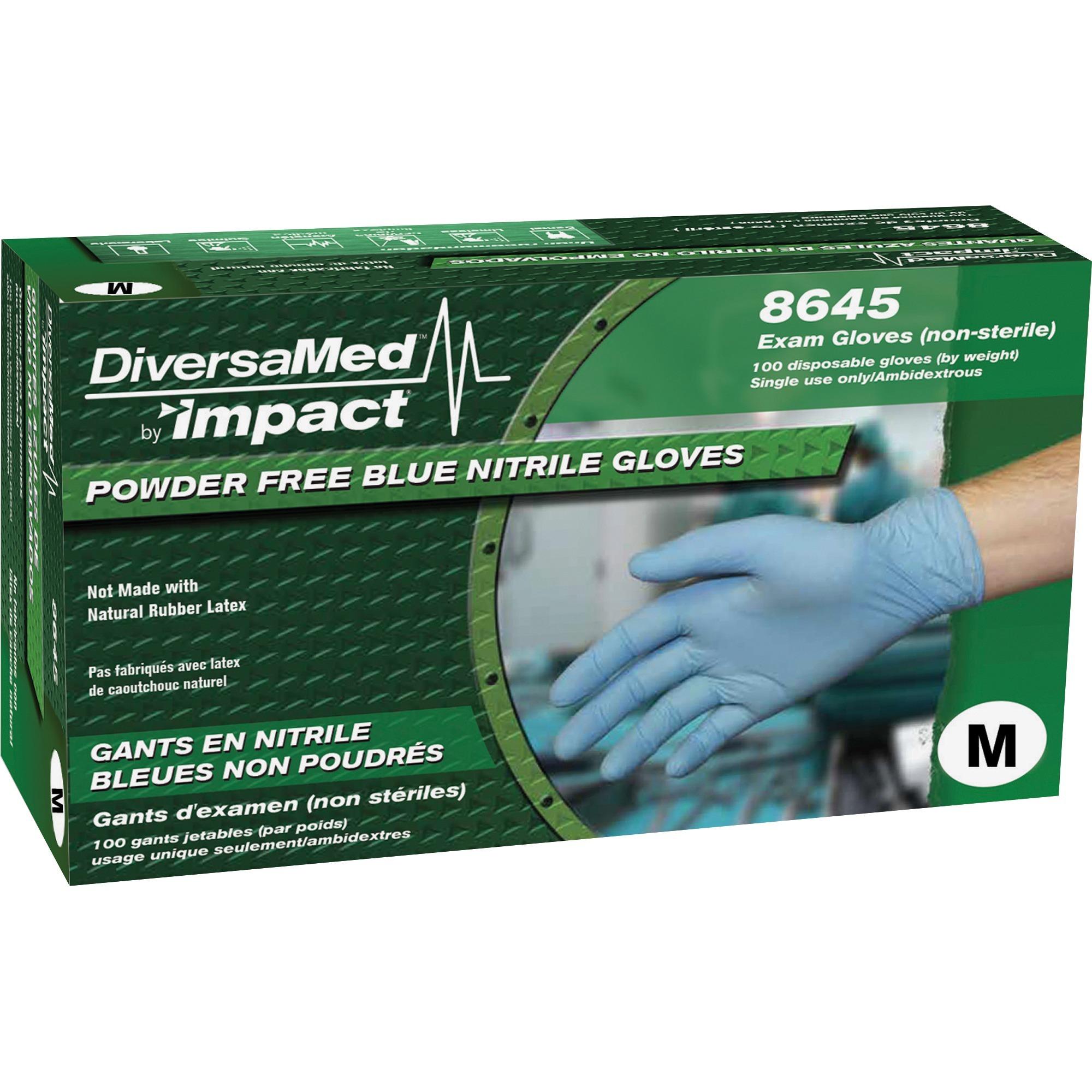 Size Medium Non Nitrile Vinyl Exam 2000 Latex Disposable Gloves Powder Free