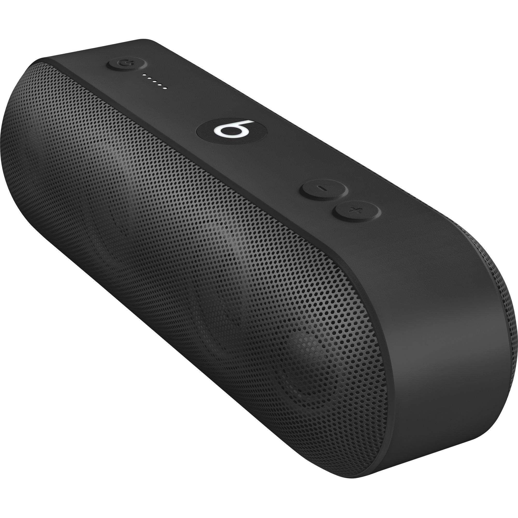 Apple Beats Pillplus Speaker System - Wireless Speakers - Portable - Battery Rechargeable - Black