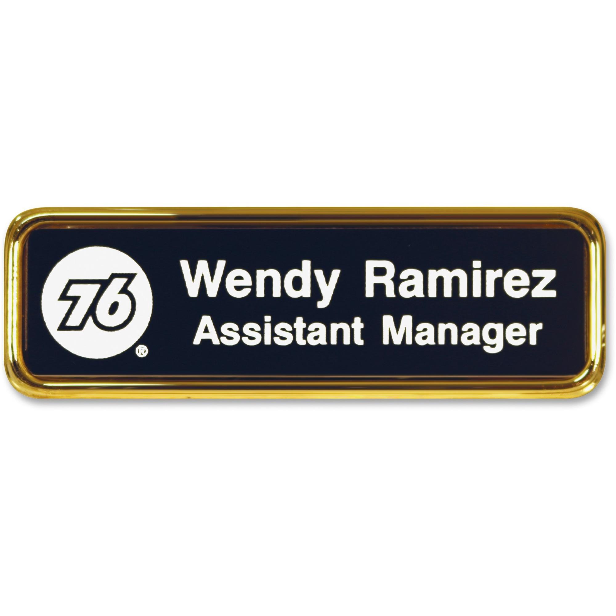 Xstamper Standard Logo Name Badges - 1 Each - 3 Width x 1 5