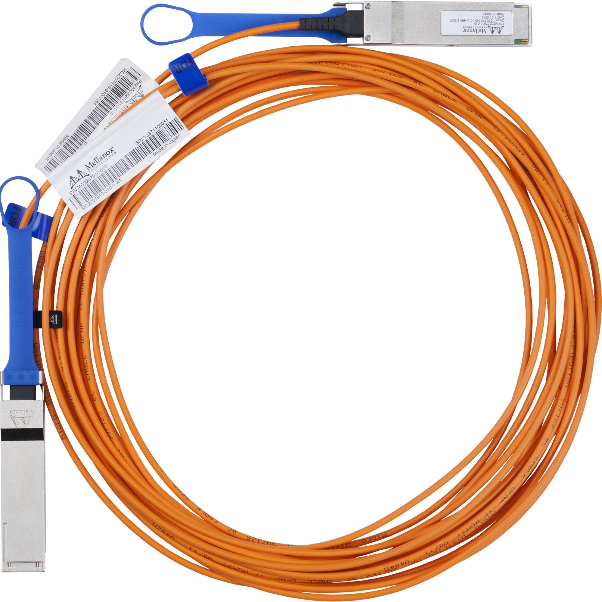 Mellanox Fibre Optic Network Cable for Network Device - 5 m - 1 x QSFP Male Network - 1 x QSFP Male Network