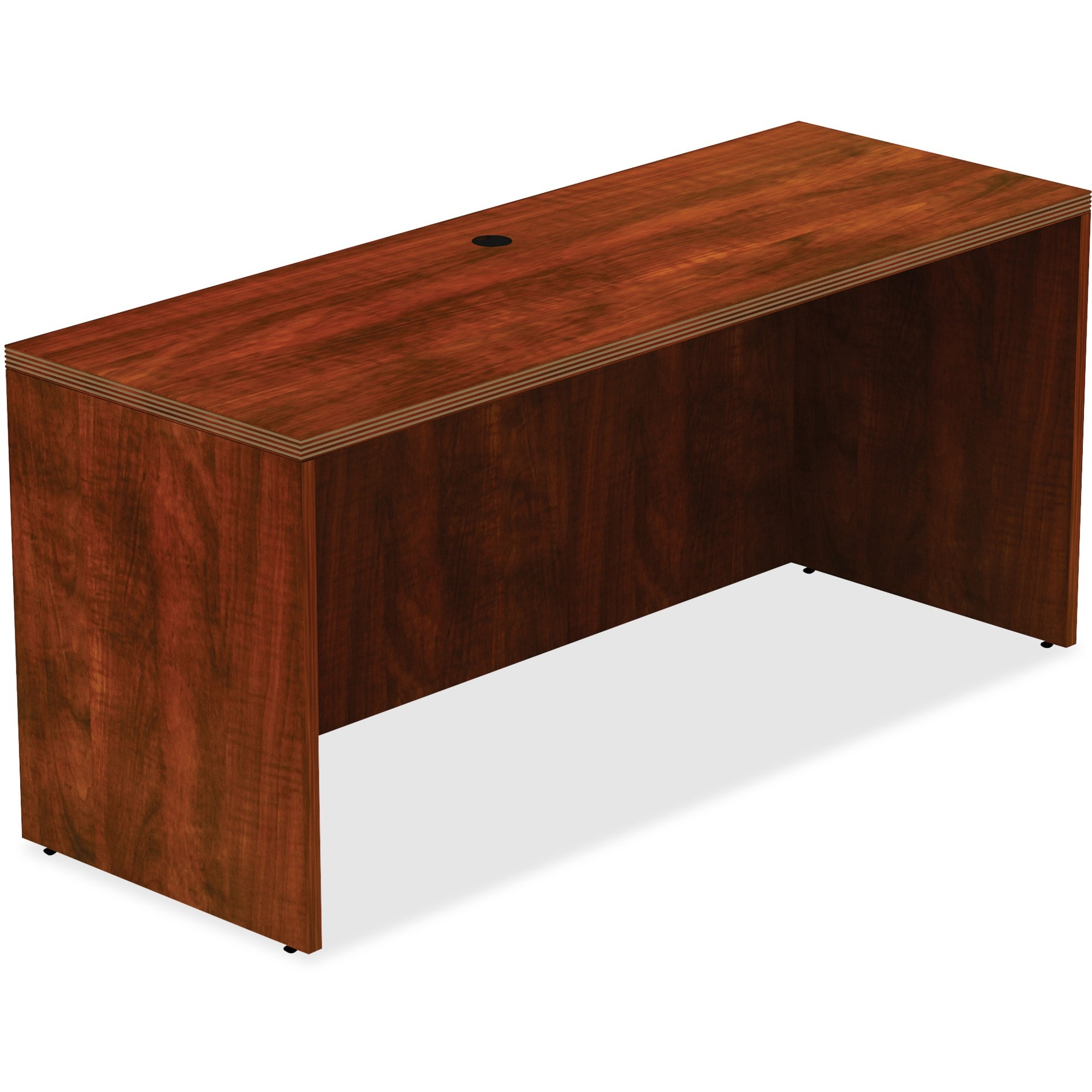 "Lorell Chateau Credenza - Top, 60"" x 24"" x 30"" - Reeded Edge - Finish: Cherry Laminate - Madill ..."