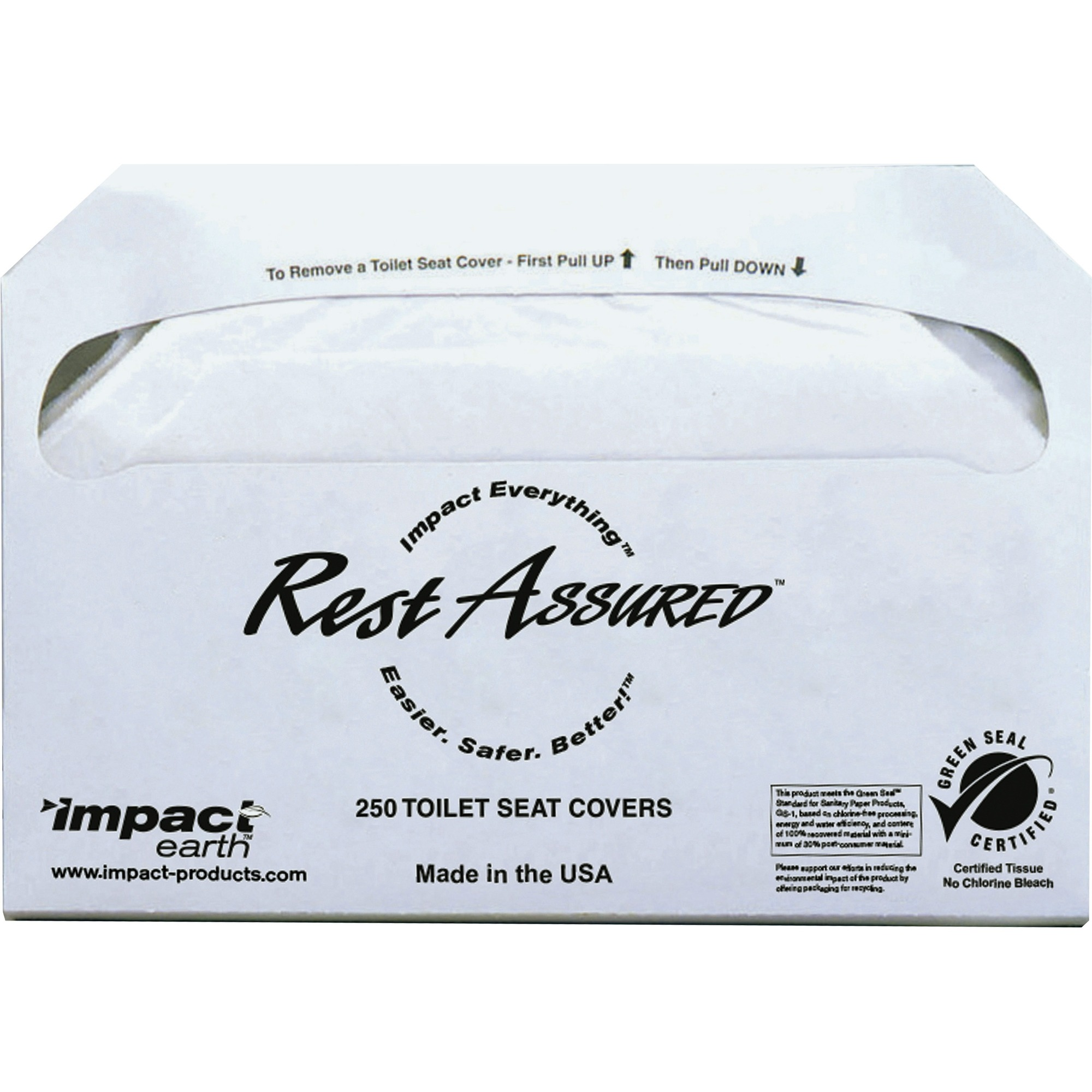 Incredible Impact Products Toilet Seat Covers Half Fold 250 Pack 5000 Carton Paper White Alphanode Cool Chair Designs And Ideas Alphanodeonline