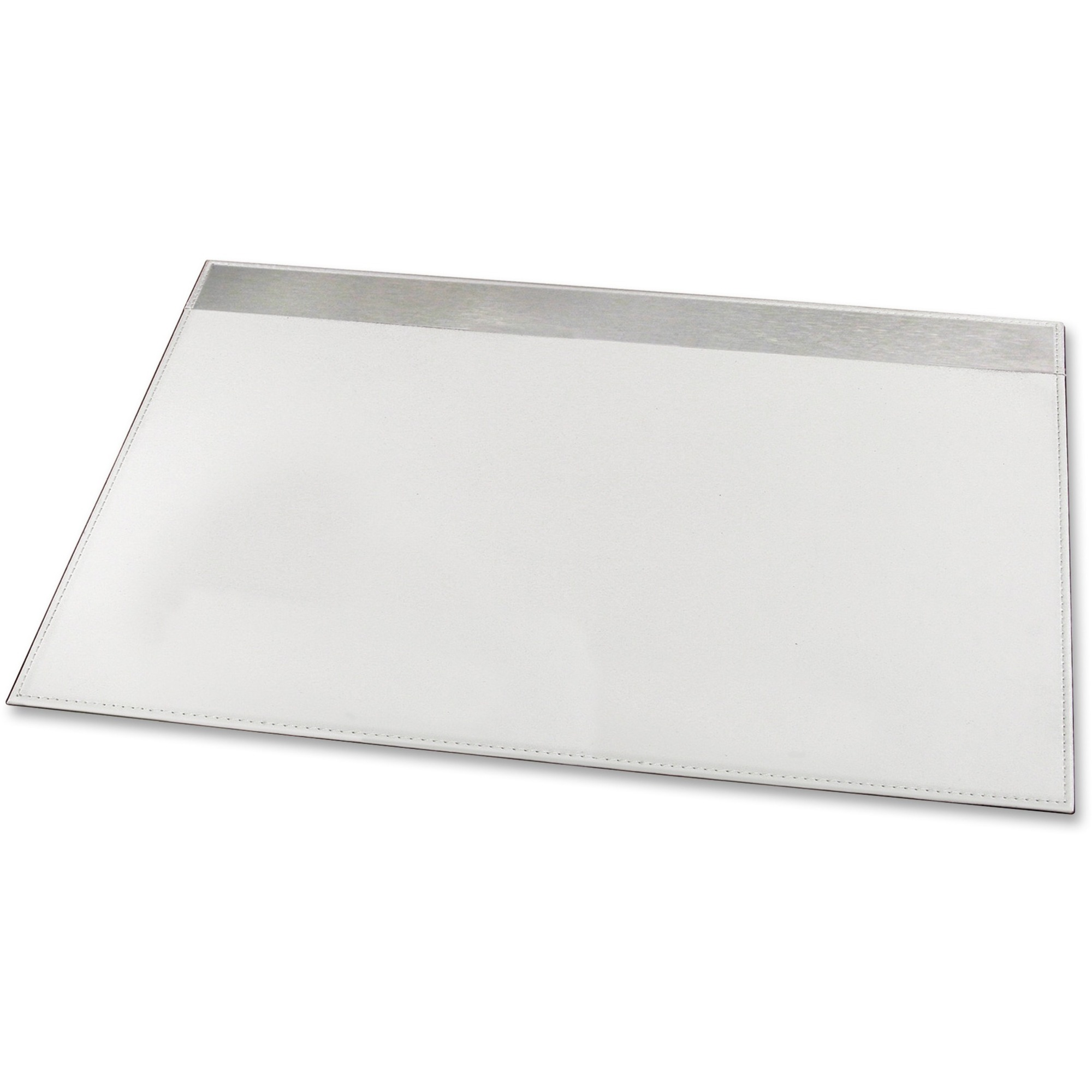 Artistic 19 X 24 Architect Line Desk Pad White Silver Metal Rectangle 482 60 Mm Width 609 Depth