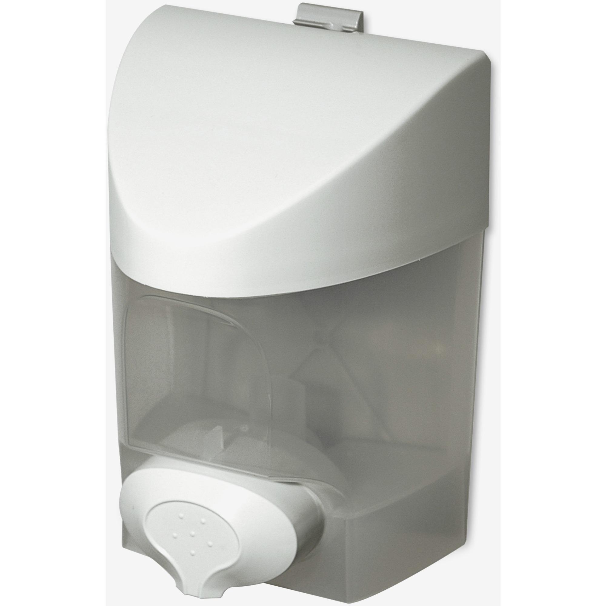 Dura Plus Push Button Soap Dispenser   Manual   887.21 ML Capacity   White    1Each