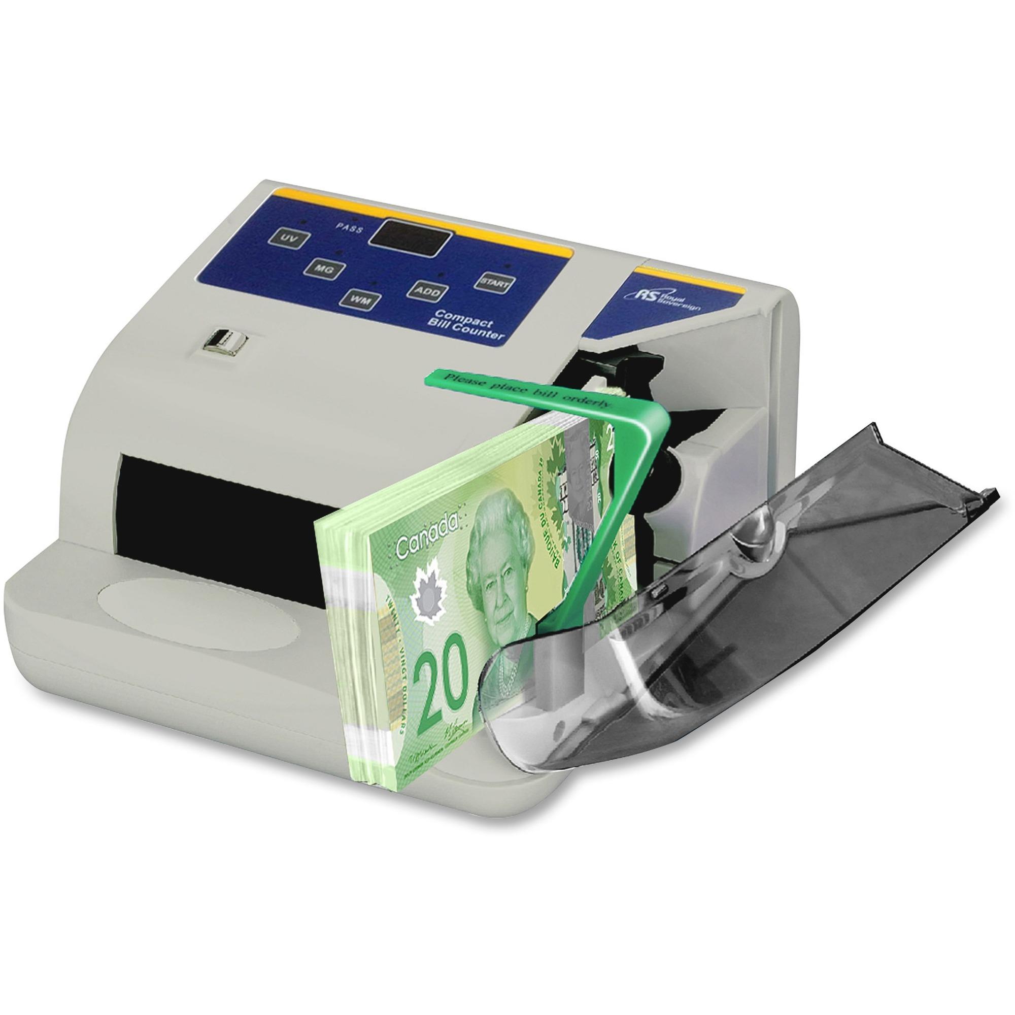 Royal Sovereign Banknote Counter 150 Bill Capacity