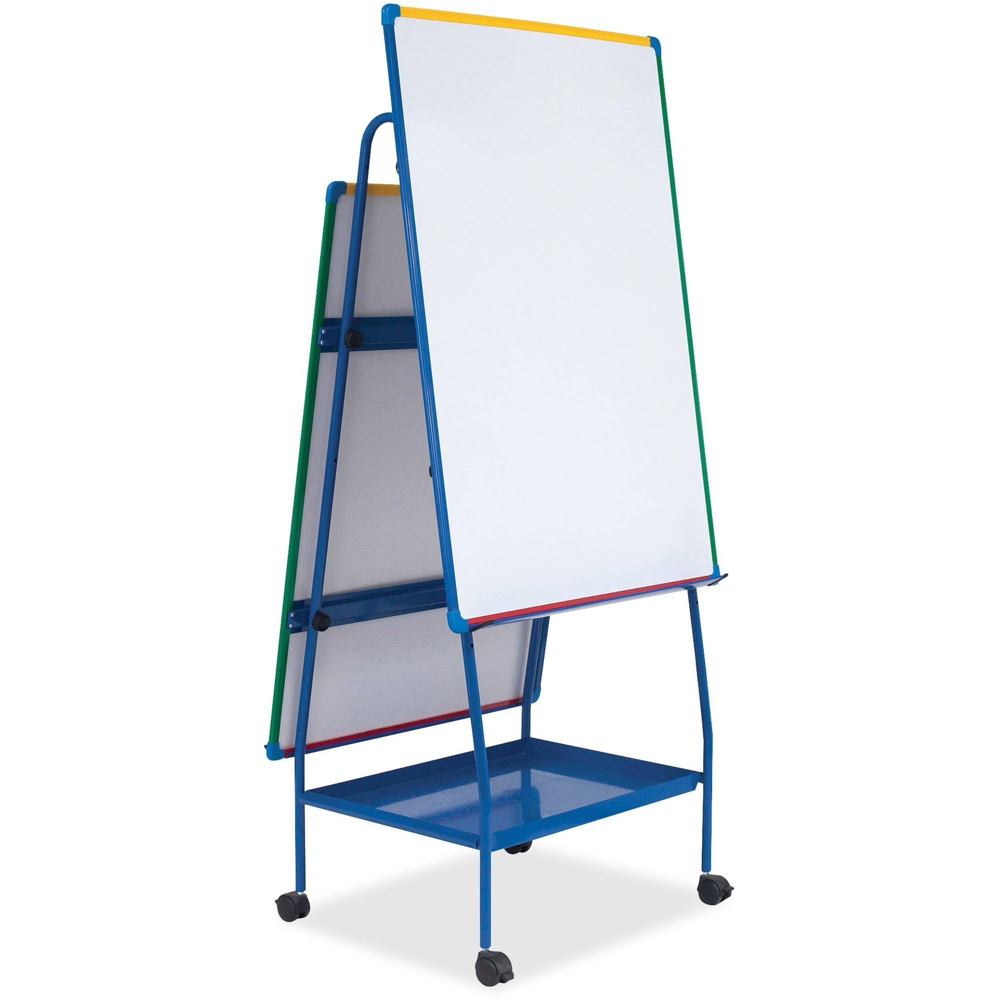 Bi-office Dry-erase AdjustableDoublee-sided Easel - White Surface - Rectangle - Assembly Required - 2 / Each