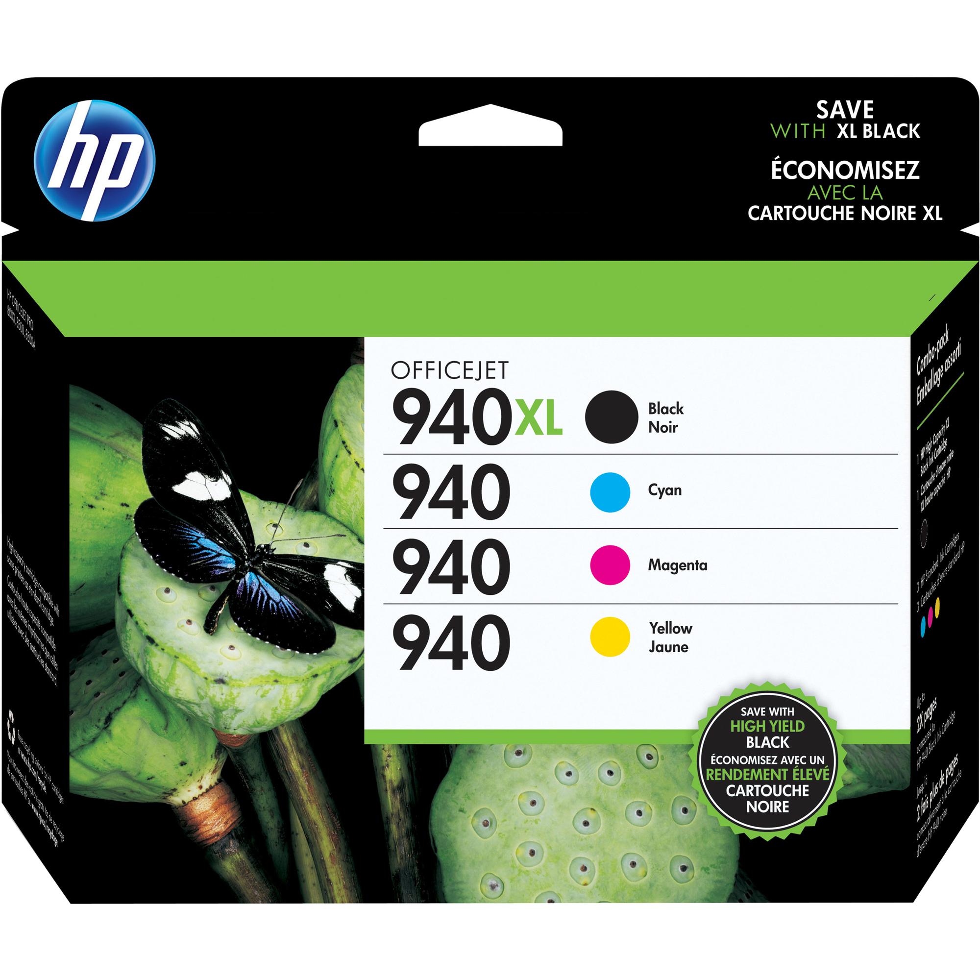 HP 940XL Ink Cartridge - Cyan, Magenta, Yellow, Black