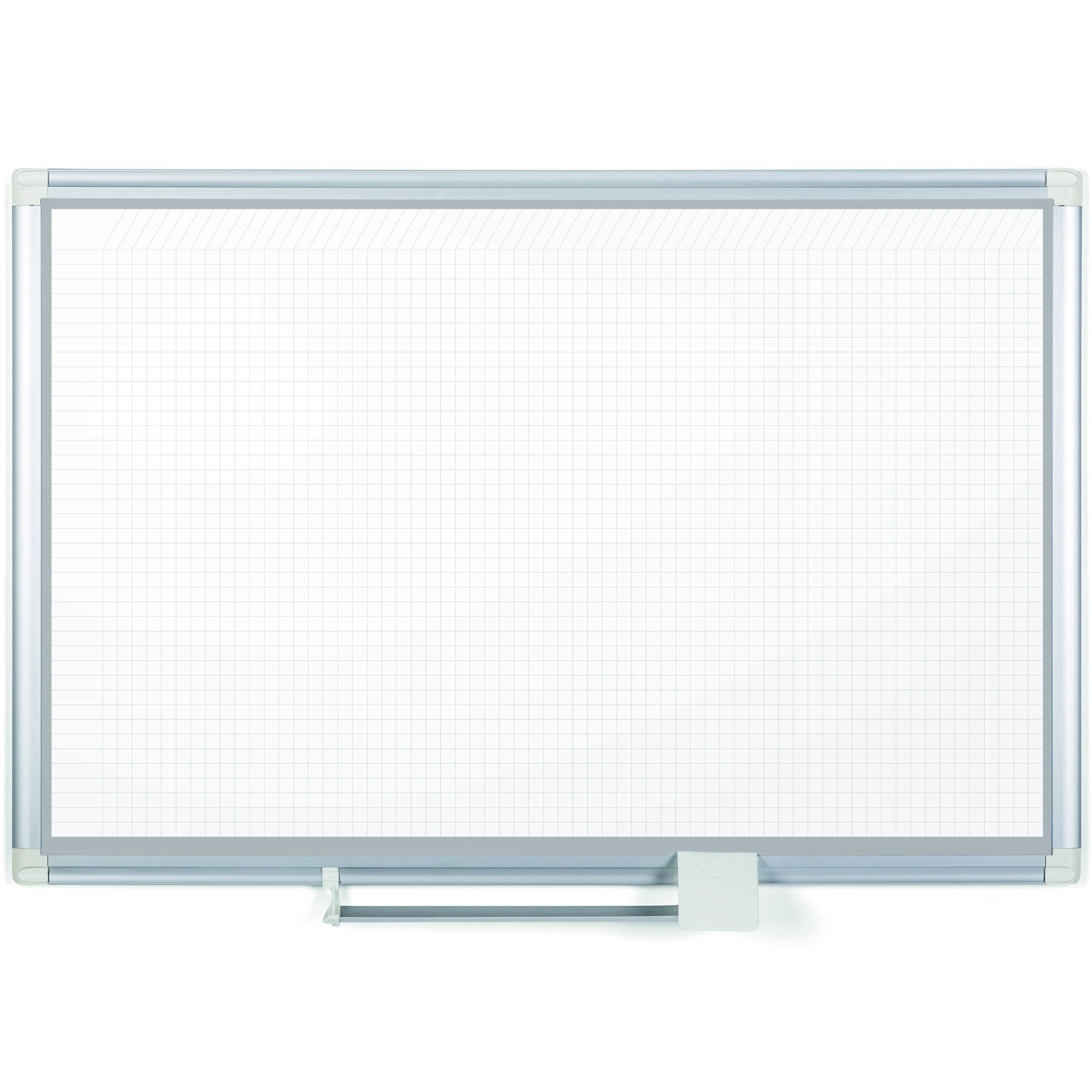 MasterVision Dry-erase Magnetic Planning Board - Pure White, Aluminum - Porcelain - 48
