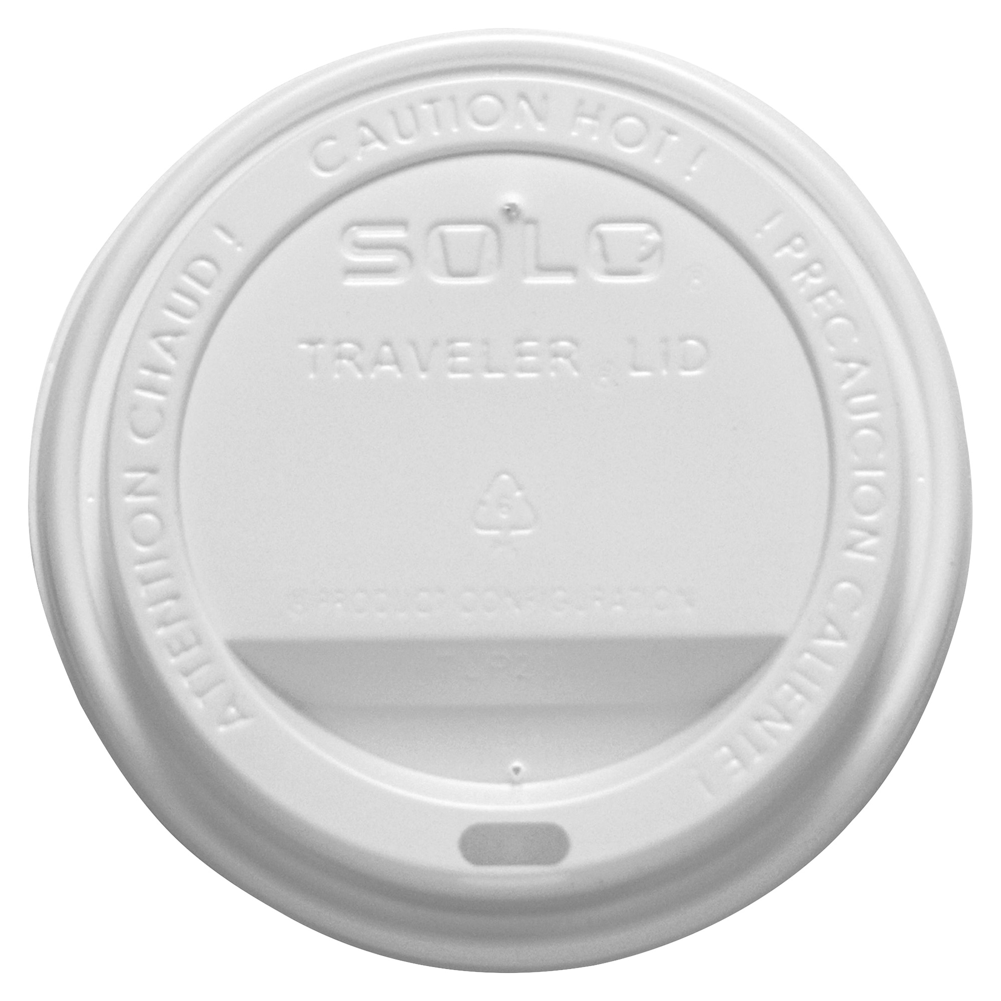 2d4dba6a942 Solo Cup Company Solo Cup Traveler Hot Cup Lids - Polystyrene - 300 /  Carton - White