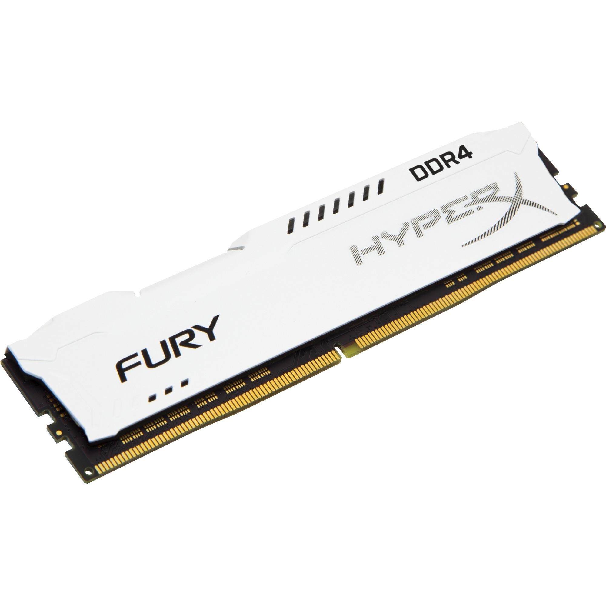 Kingston HyperX Fury RAM Module - 16 GB 1 x 16 GB - DDR4 SDRAM - 2400 MHz DDR4-2400/PC4-19200 - 1.20 V - Non-ECC - Unbuffered - CL15 - 288-pin - DIMM
