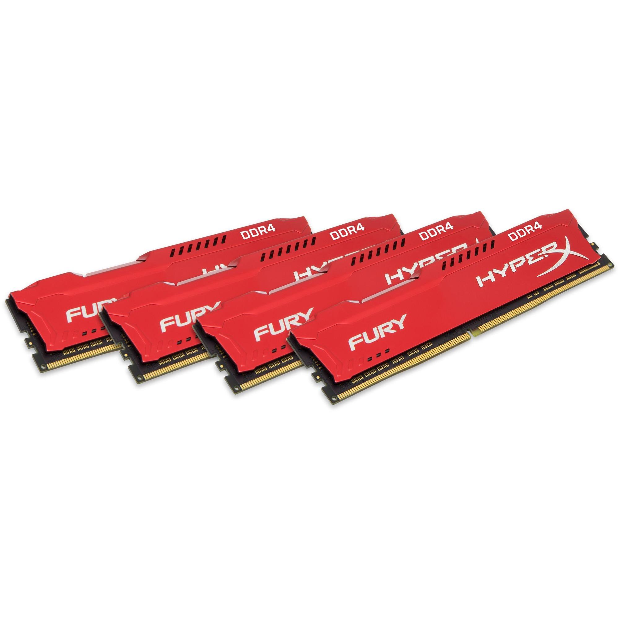 HyperX Fury Red 32GB 4x8GB DDR4 2133MHz Memory