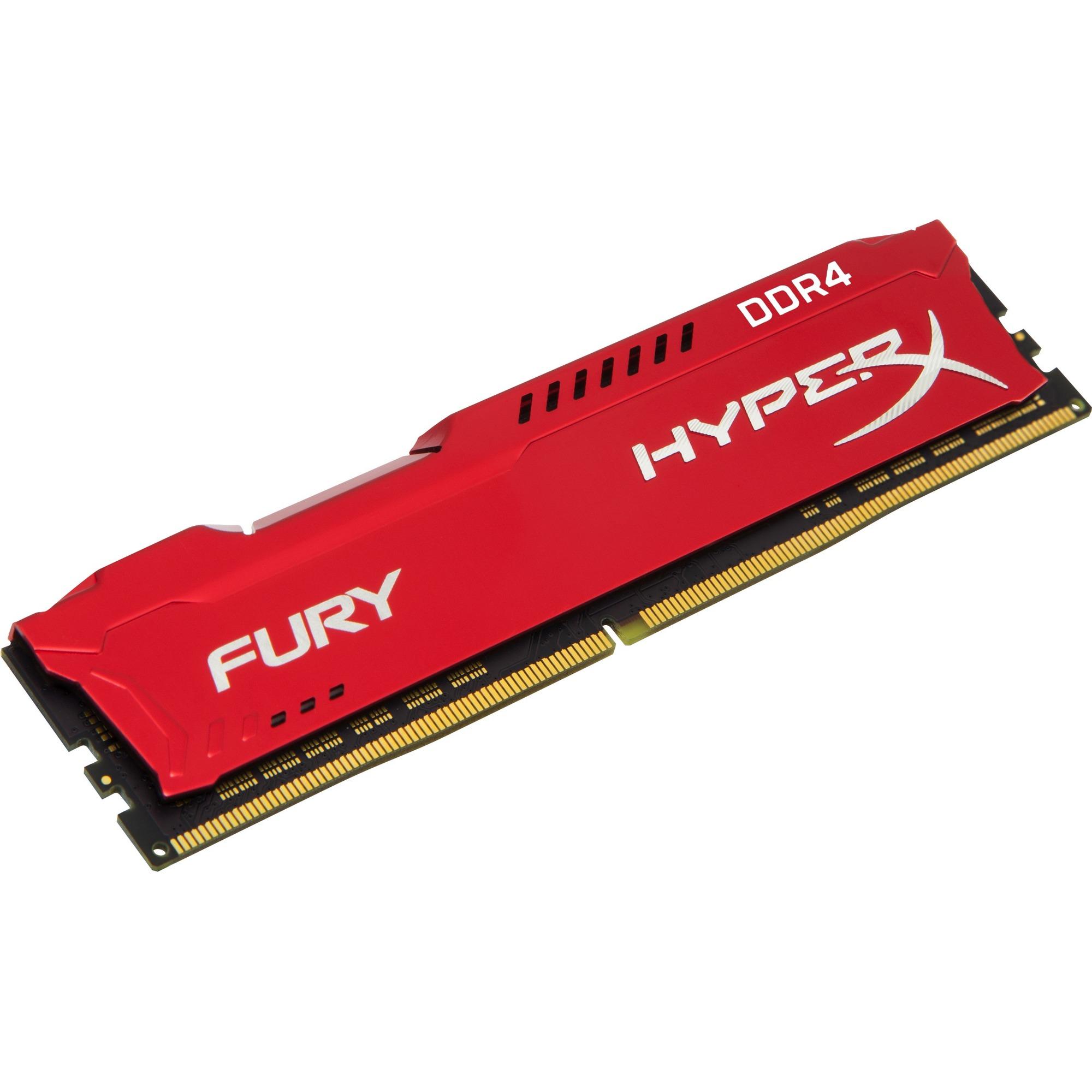 Kingston HyperX RAM Module - 16 GB - DDR4 SDRAM - 2400 MHz DDR4-2400/PC4-19200 - 1.20 V - Non-ECC - Unbuffered - CL15 - 288-pin - DIMM
