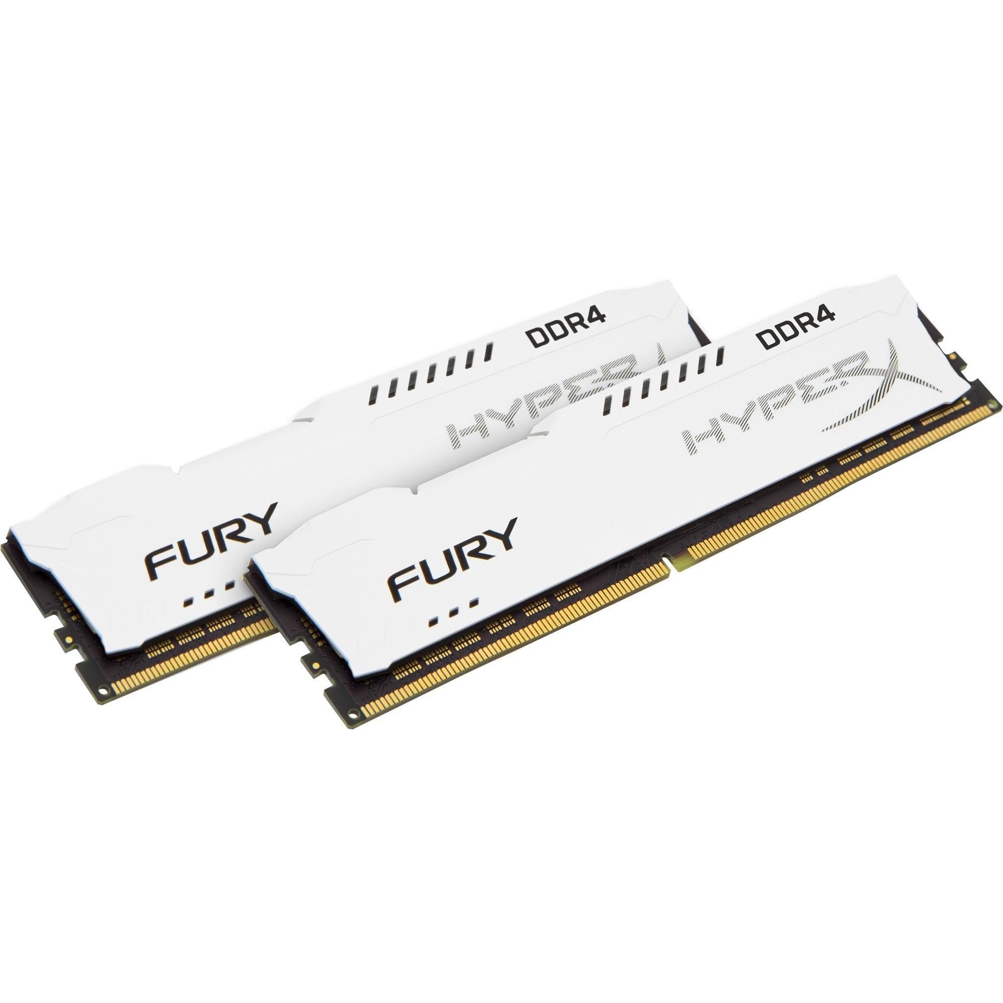 HyperX Fury 32GB White 2x 16GB 2400MHz DDR4 RAM