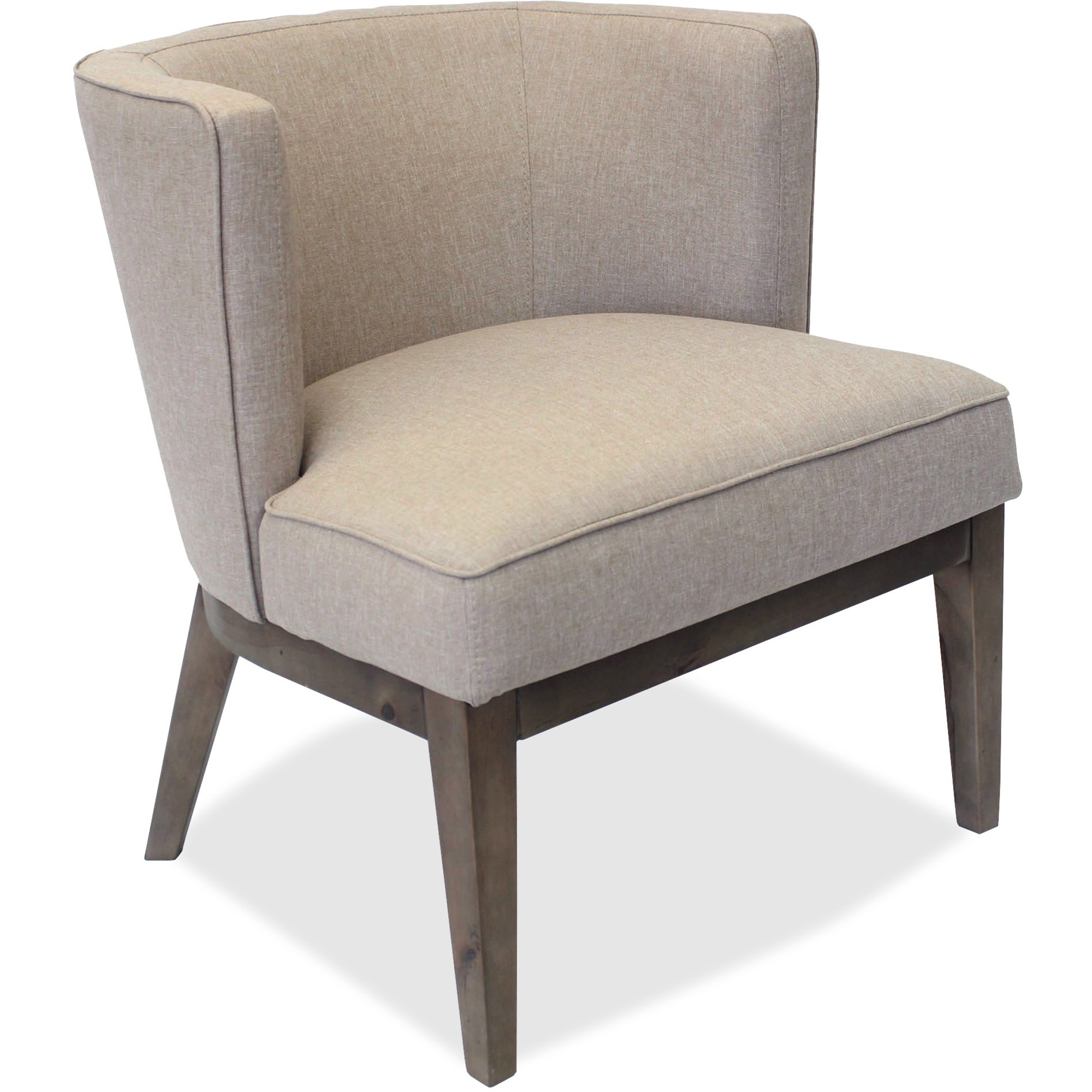 Astounding Lorell Linen Fabric Accent Chair Wood Walnut Frame Four Legged Base Beige Linen 25 50 Seat Width X 21 Seat Depth 25 5 Width X 29 Depth X Squirreltailoven Fun Painted Chair Ideas Images Squirreltailovenorg