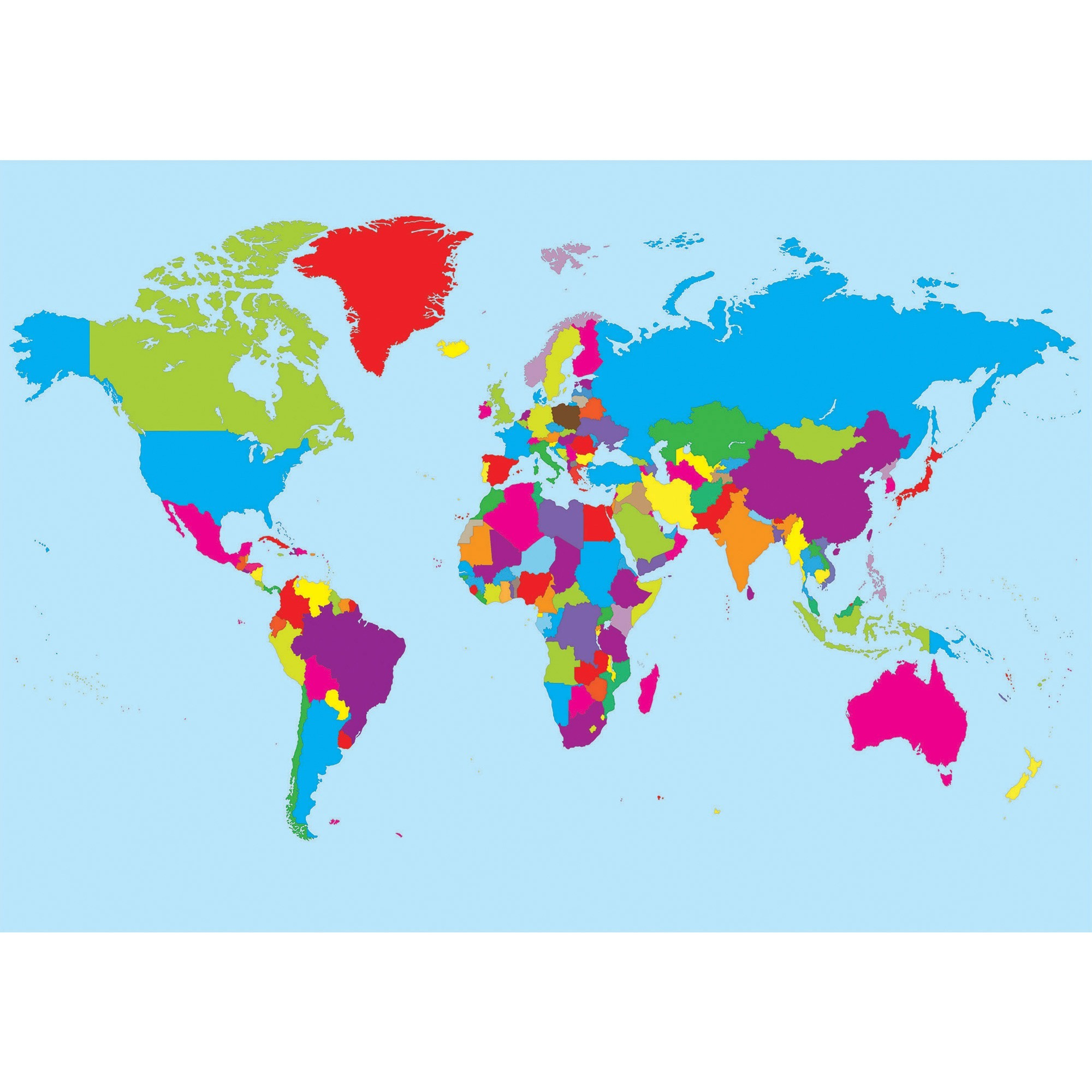 Ashley Productions, Inc Ashley Magnetic World Map - 12 Width X 17 Height