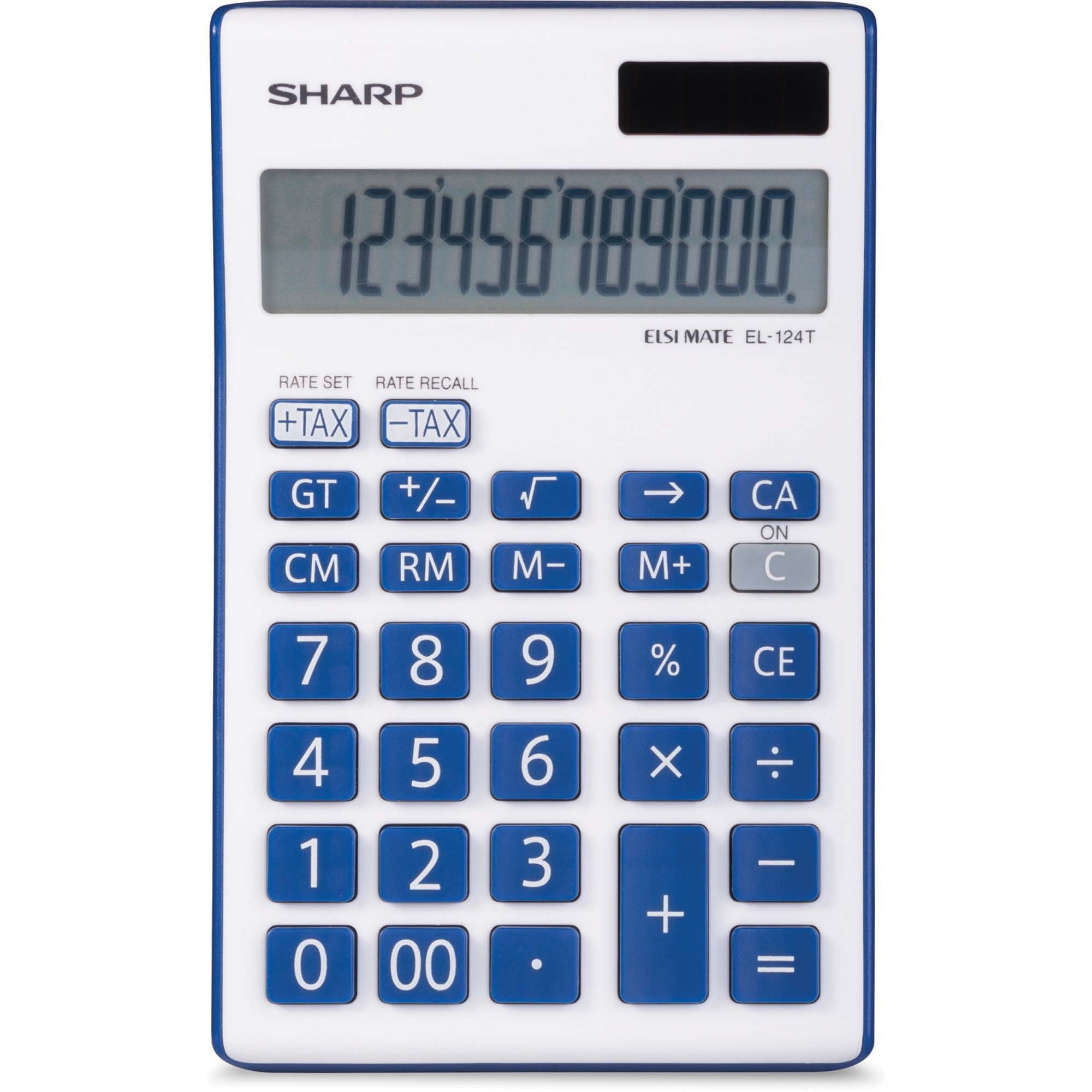 West Coast Office Supplies Technology Machines Calculations For Power Sharp 12 Digit Desktop Calculator Dual Auto Off Built In Memory Digits Battery Solar Powered 1 X 38 61 Blue Each