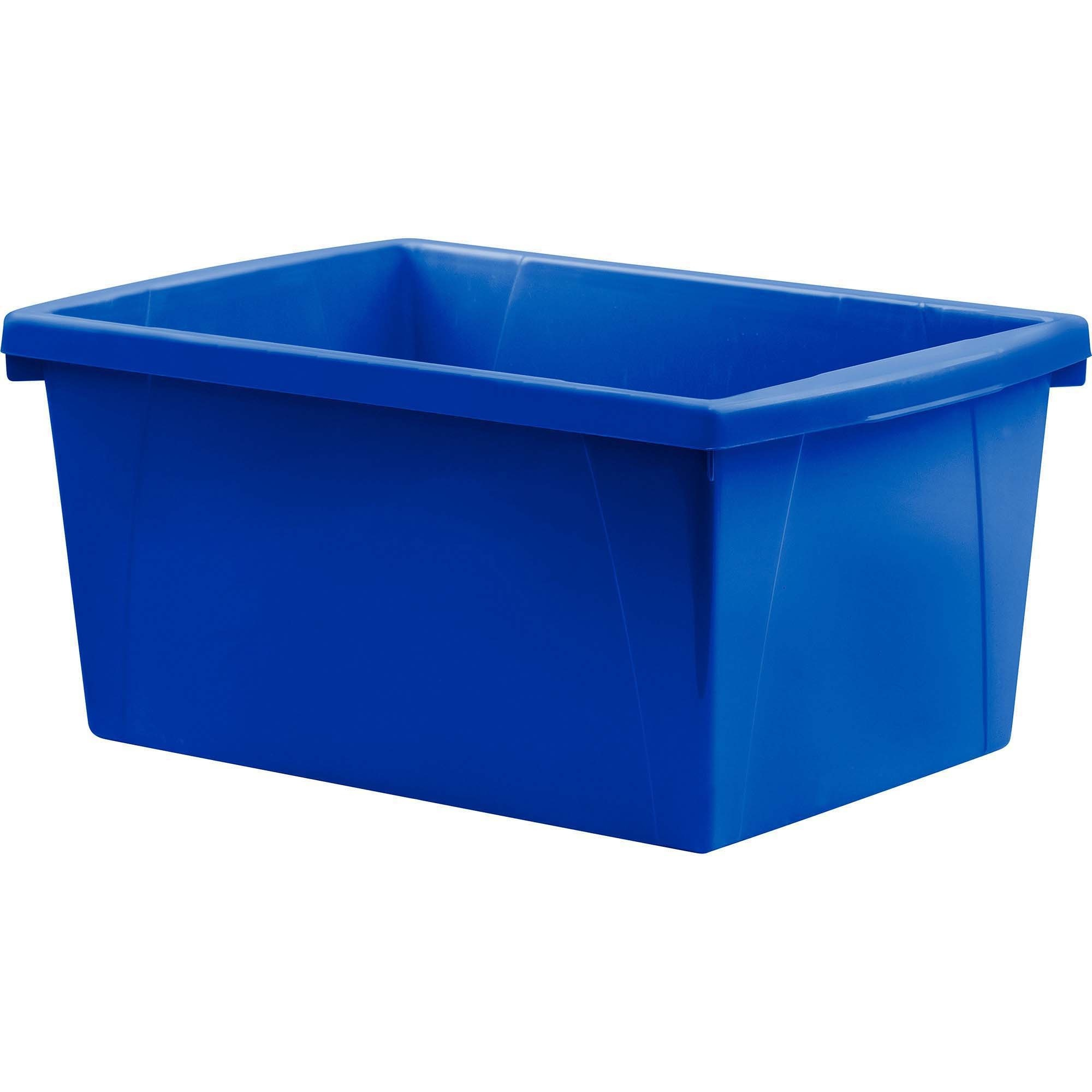 Storex Teal 5.5 Gallon Storage Bins   21 L   Stackable   Plastic   Blue    For Book, Tool, Classroom Supplies   1 Each