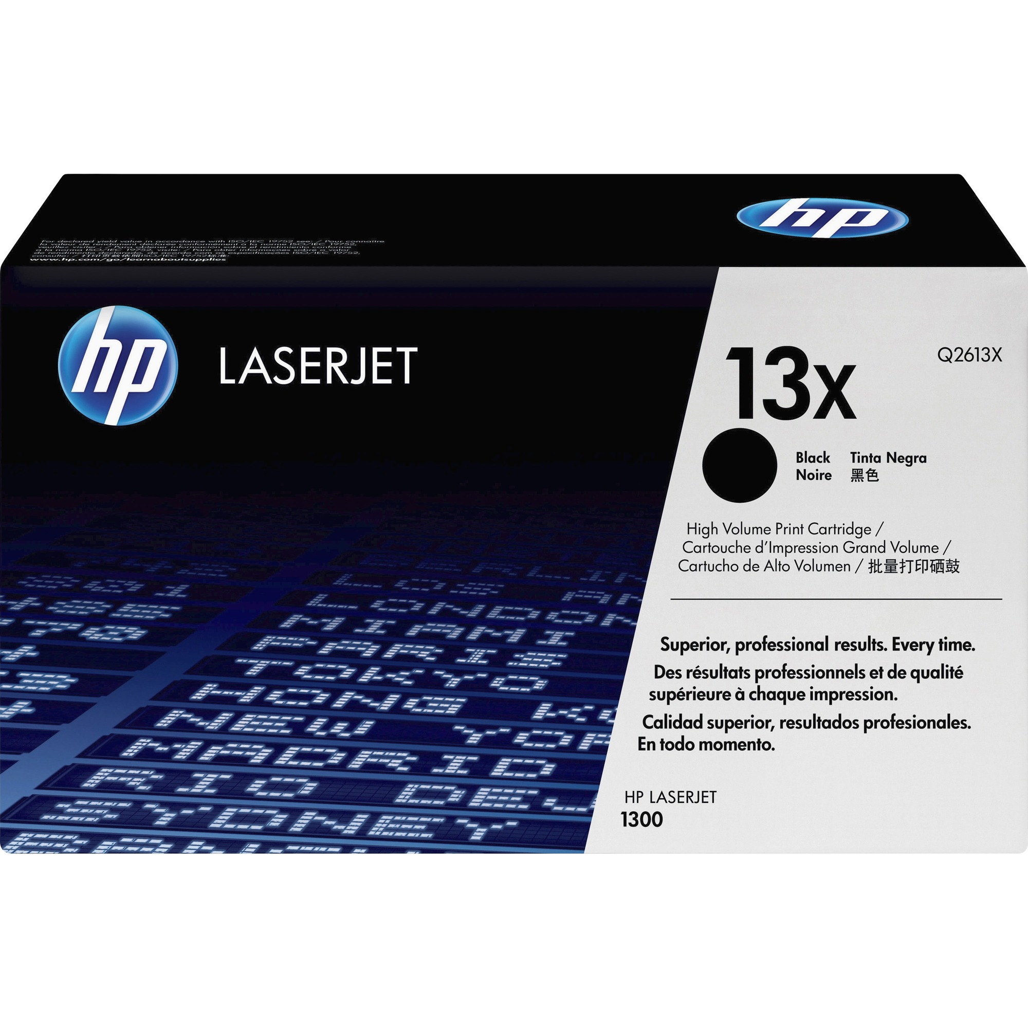 HP 13X Toner Cartridge - Black - Laser - 4000 Page - 1 Each