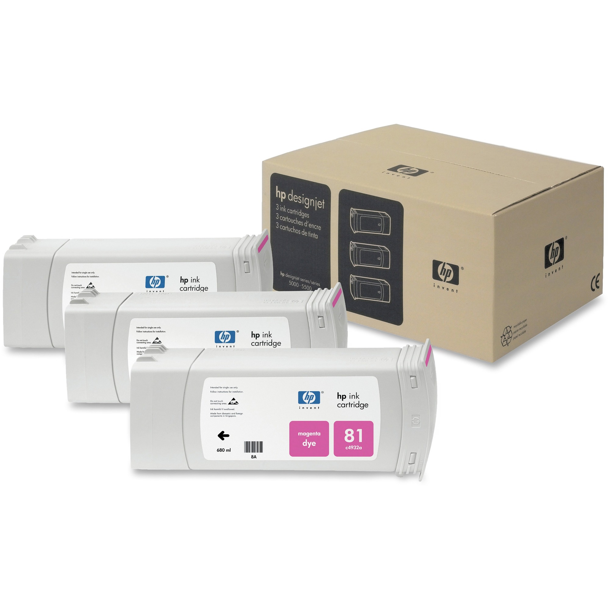 HP No. 81 Magenta Ink Cartridge x3 Pack