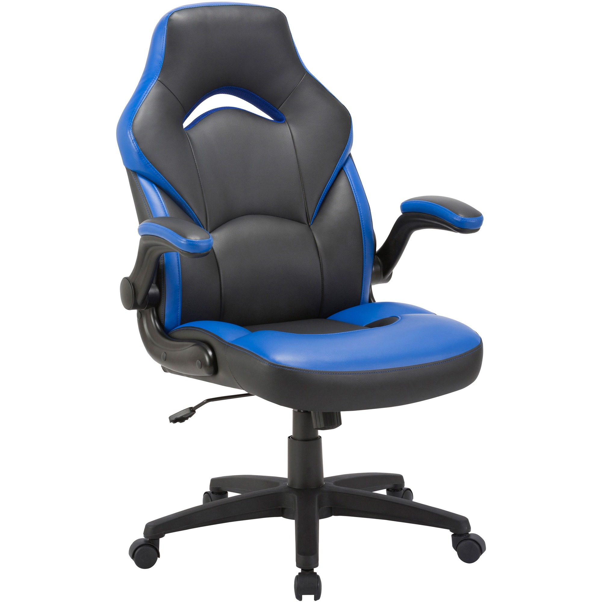 Super Lorell Bucket Seat High Back Gaming Chair Black Blue Seat Black Blue Back 5 Star Base 28 Length X 20 5 Width X 47 5 Height Machost Co Dining Chair Design Ideas Machostcouk