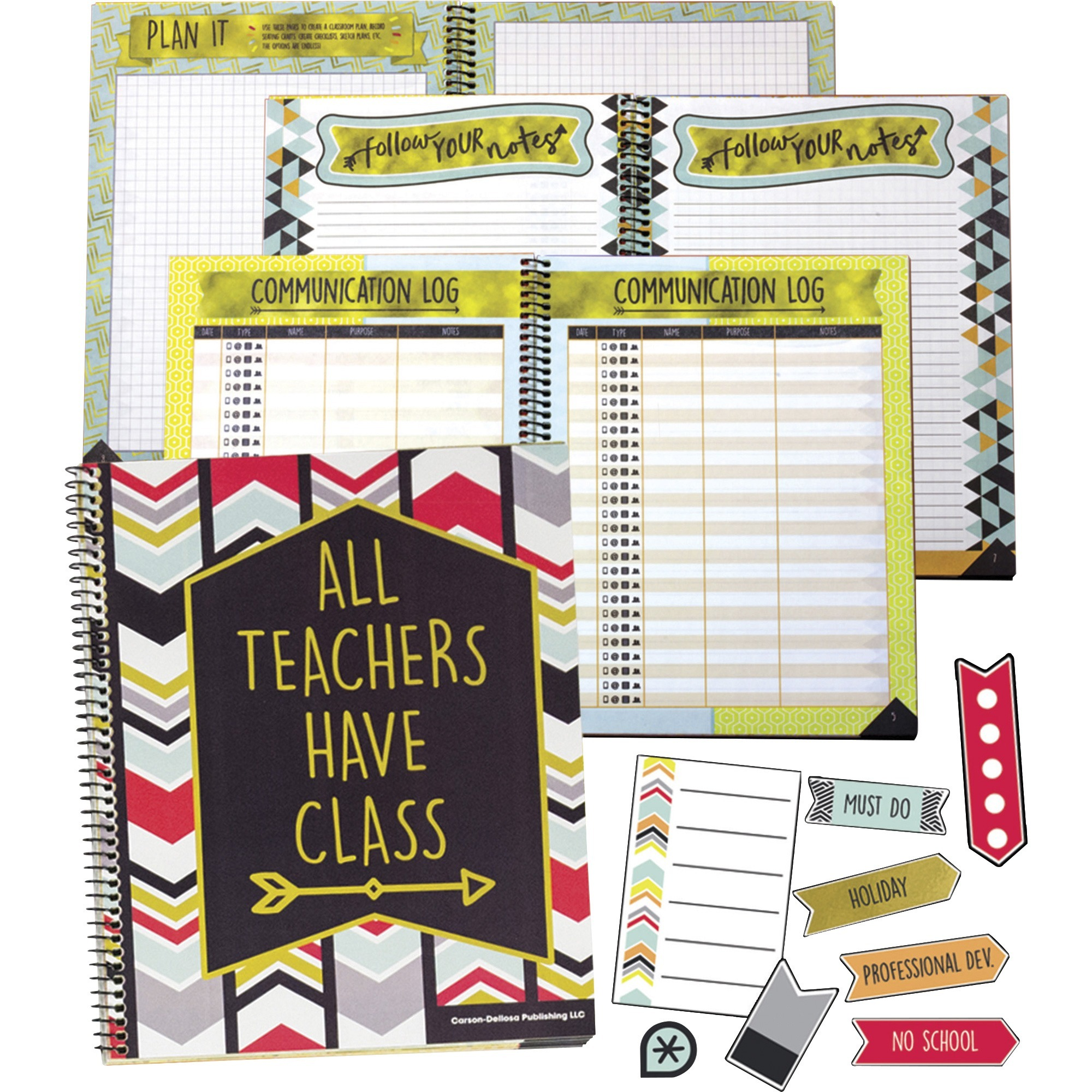 Carson Dellosa Education Aim High Planner Set - Academic - Wire Bound - Multi - Checklist Column - 2 / Set