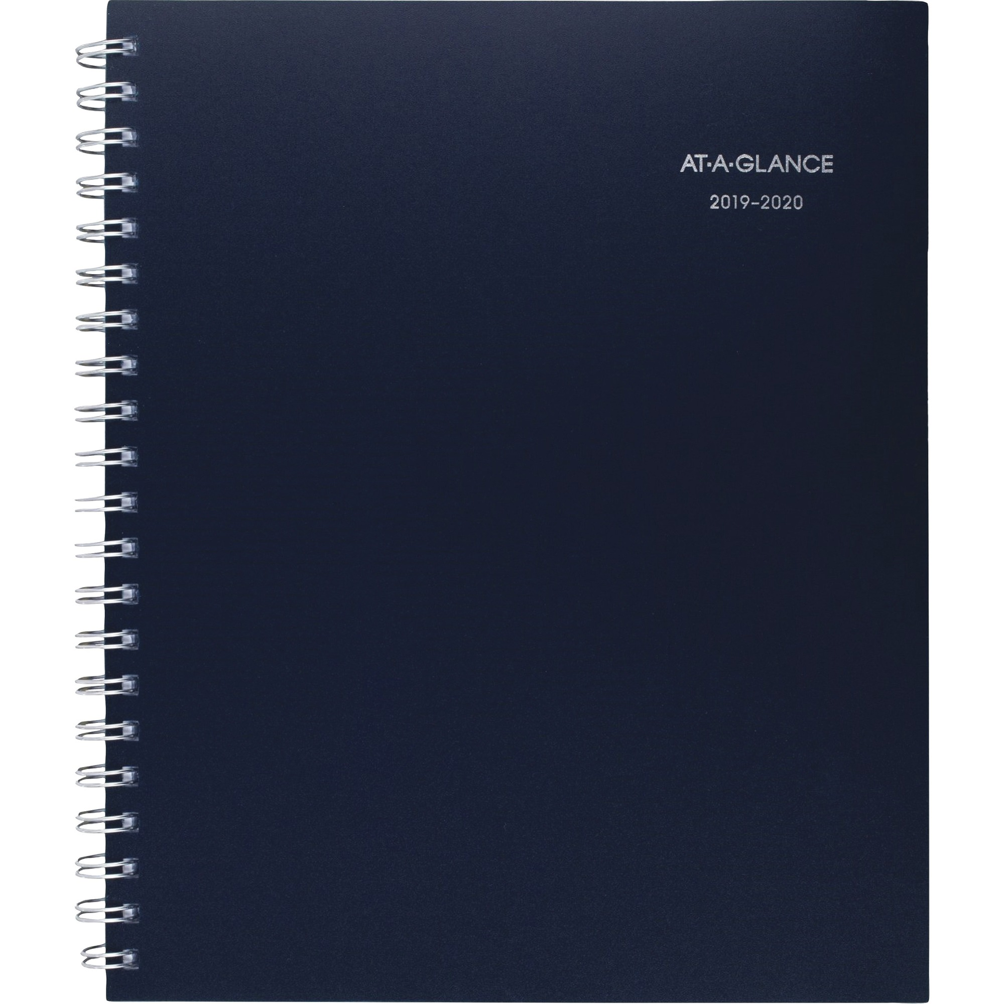 At-A-Glance Teacher Weekly/Monthly Large Planner - Academic - Yes - Weekly, Monthly - 1 Year - July till June - 1 Week, 1 Month Double Page Layout - Wire Bound - Navy Blue, Navy, Gold - Notepad, Bleed Resistant Paper, Unruled Daily Block, Notes Area, Tabb