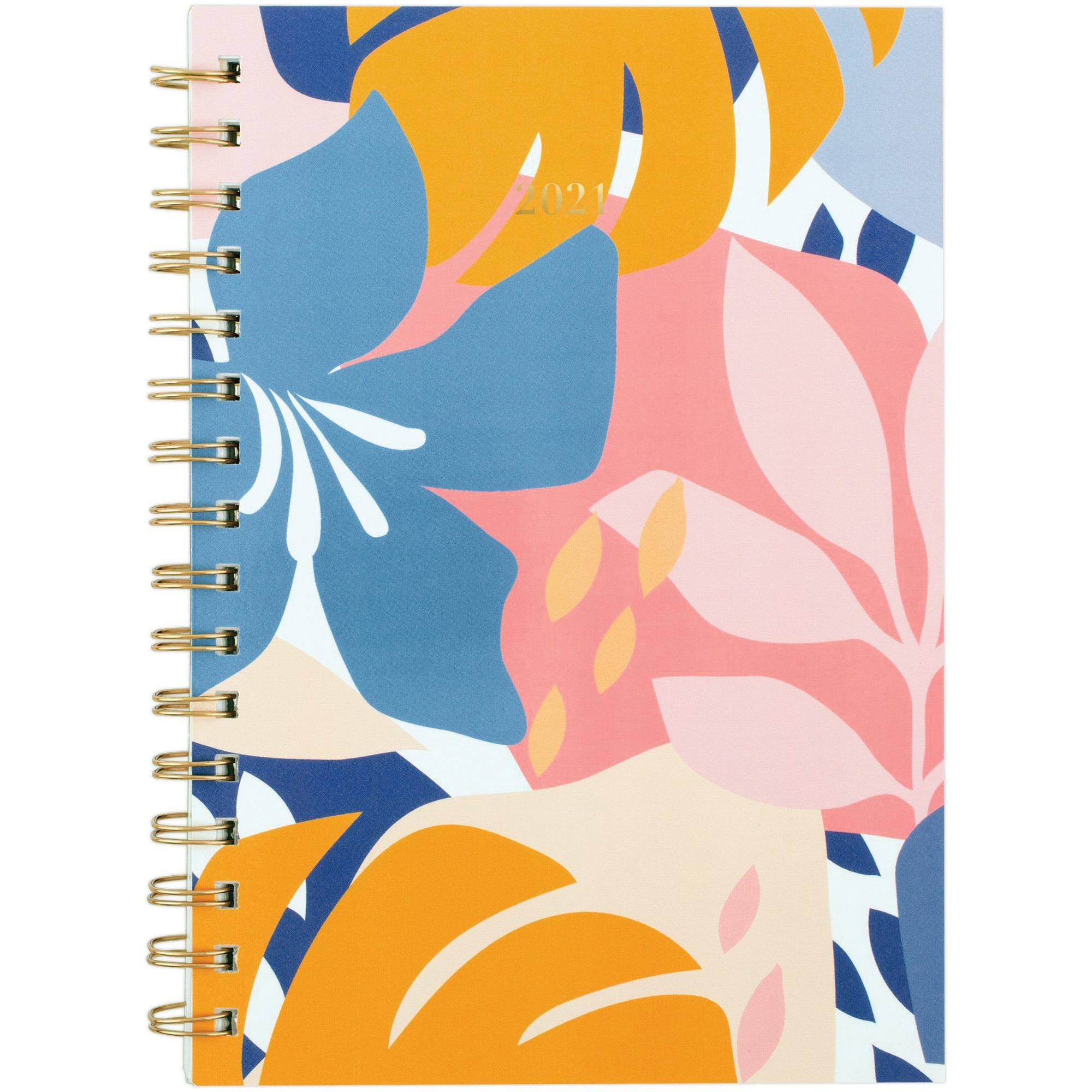 At-A-Glance Havana Planner - Small Size - Weekly, Monthly - 1 Year - January till December - 1 Week, 1 Month Double Page Layout - Twin Wire - Floral, Gold - Dated Planning Page, Unruled Daily Block, Tabbed, Notes Area, Contact Sheet, Double-sided Pocket,