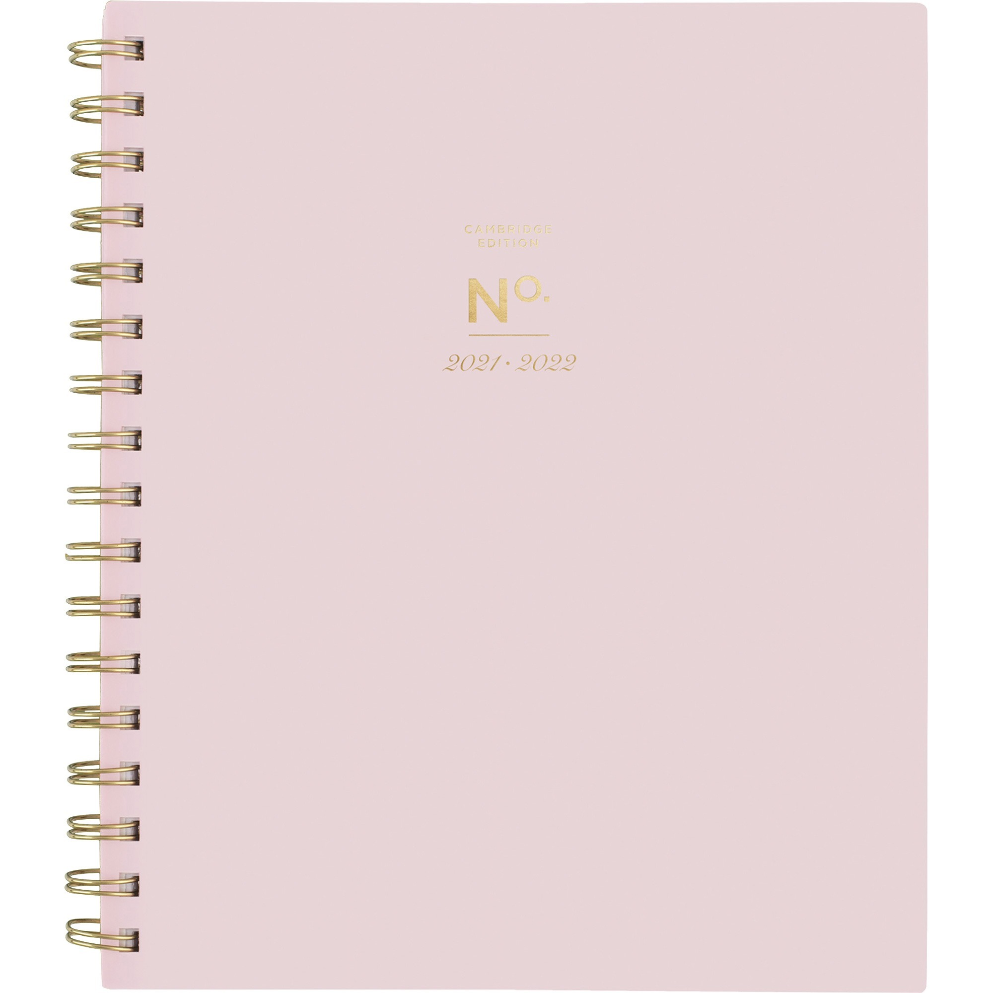 At-A-Glance WorkStyle 7x9 Academic Planner - Academic/Professional - Weekly, Monthly - 1 Year - July till June - 1 Week, 1 Month Double Page Layout - Twin Wire - Gold - Pink - 7