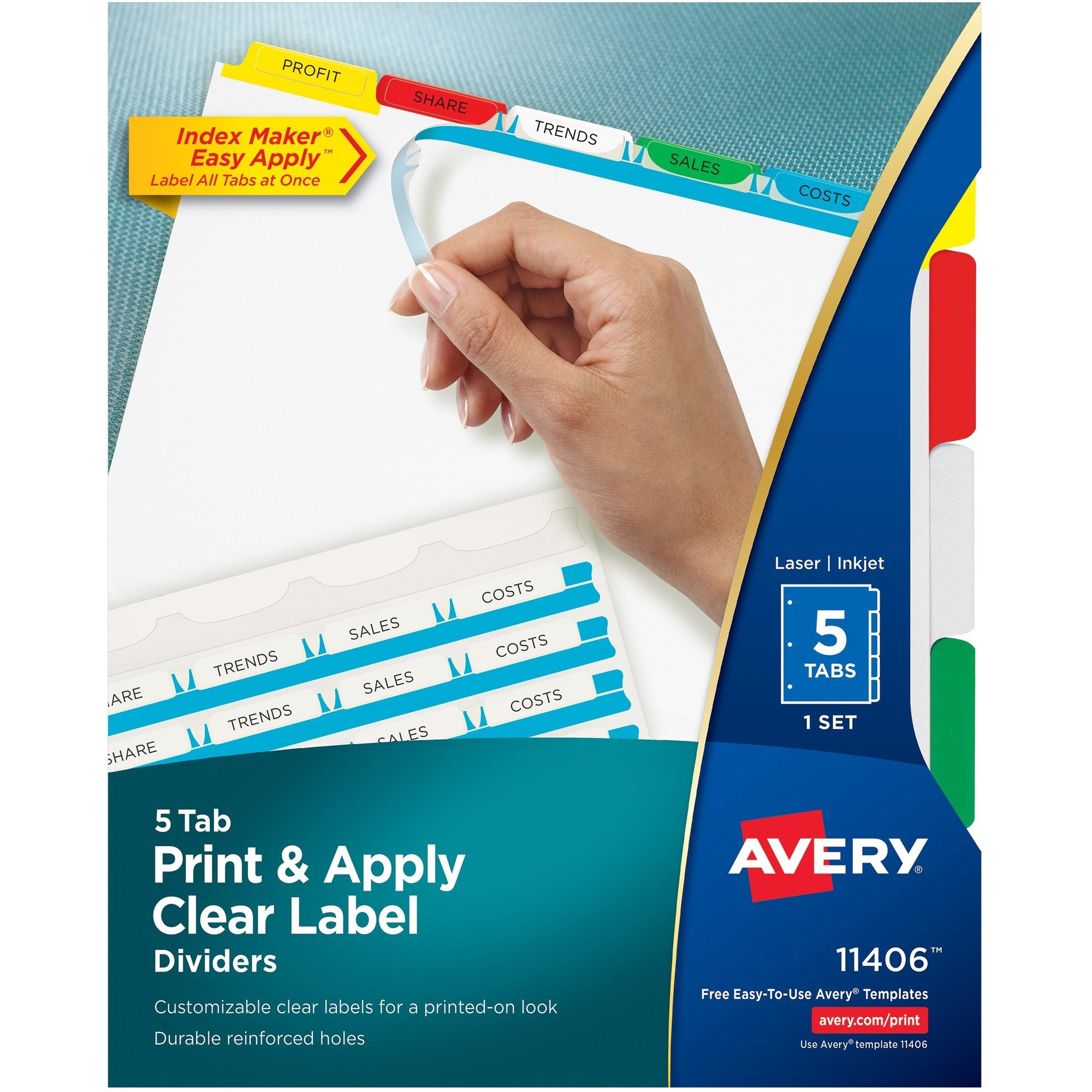 Kamloops Office Systems Office Supplies Binders Accessories - Avery 5 tab index template