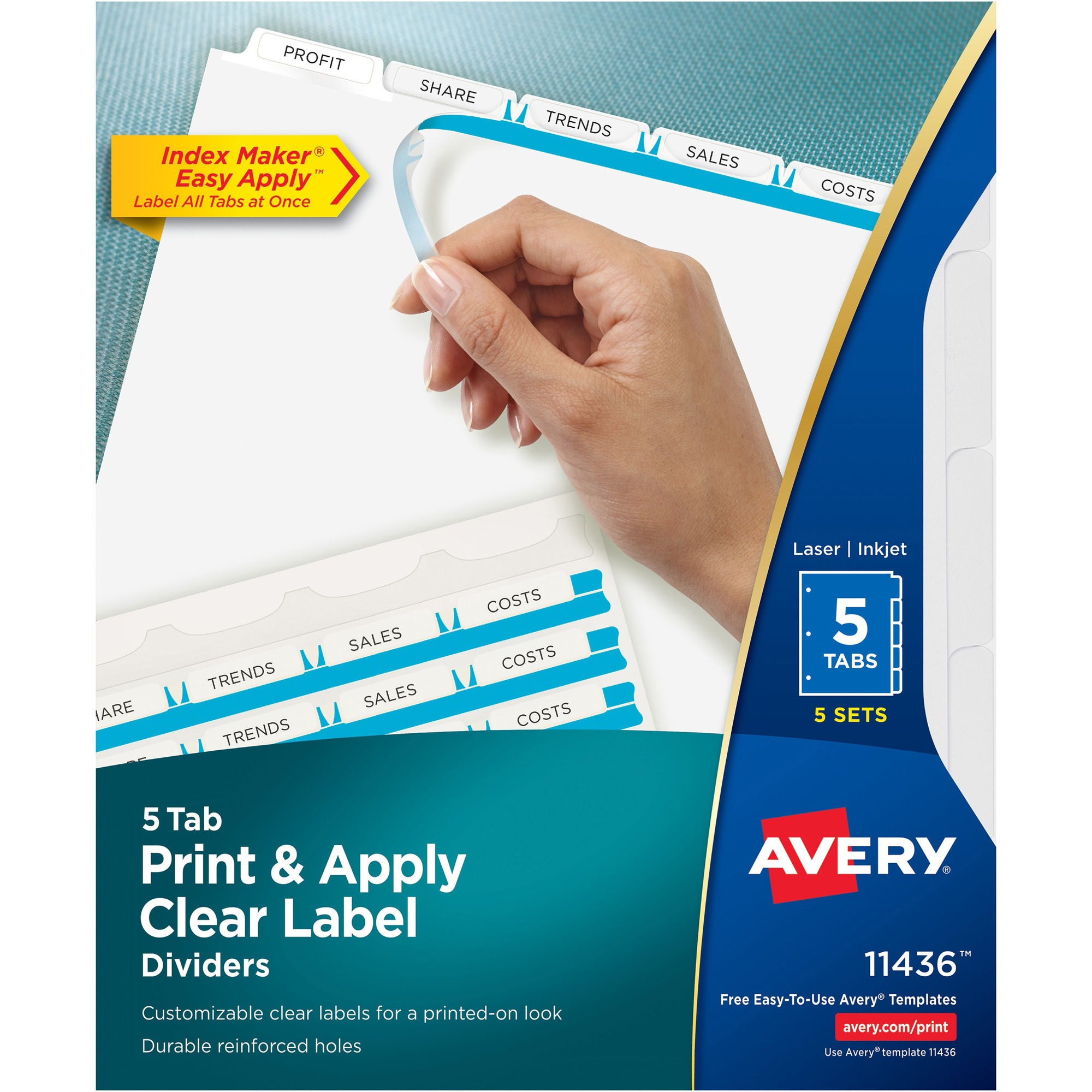 West coast office supplies office supplies binders for Avery easy apply 5 tab template