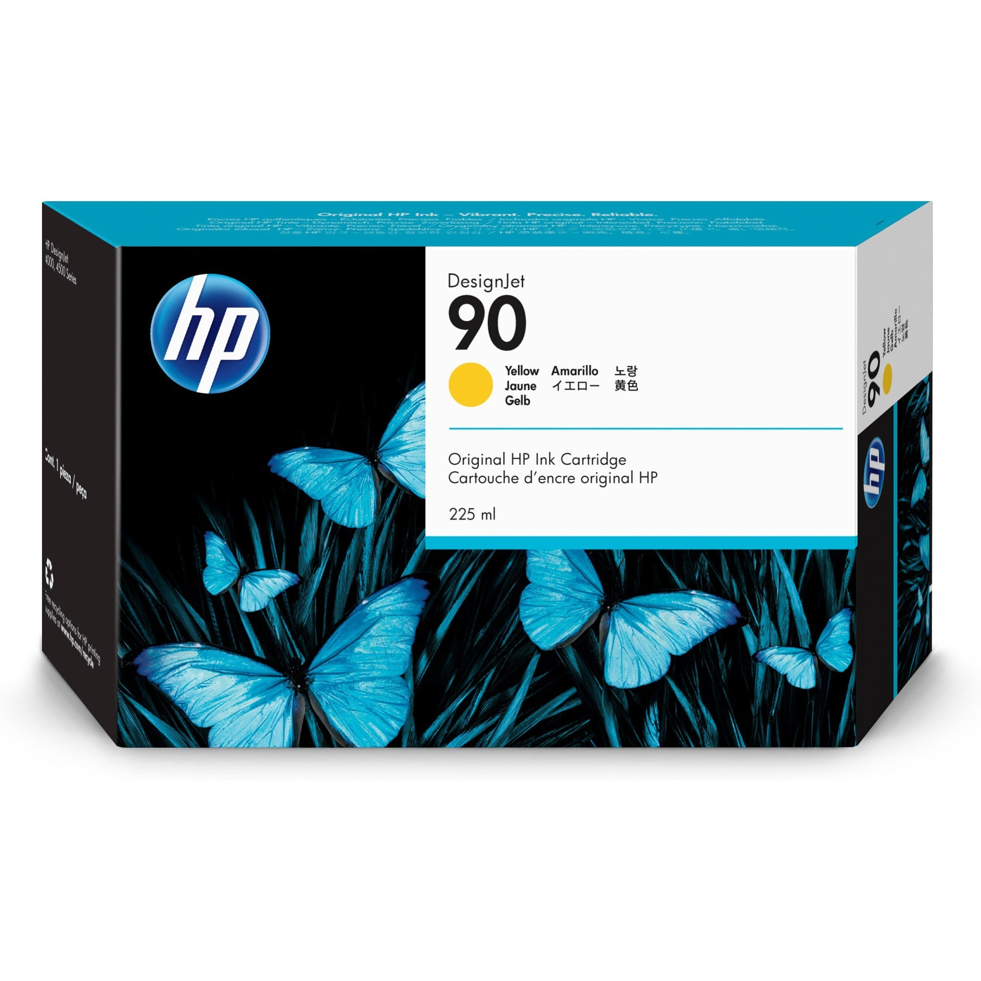 HP 90 Yellow Ink Cartridge - 225ml