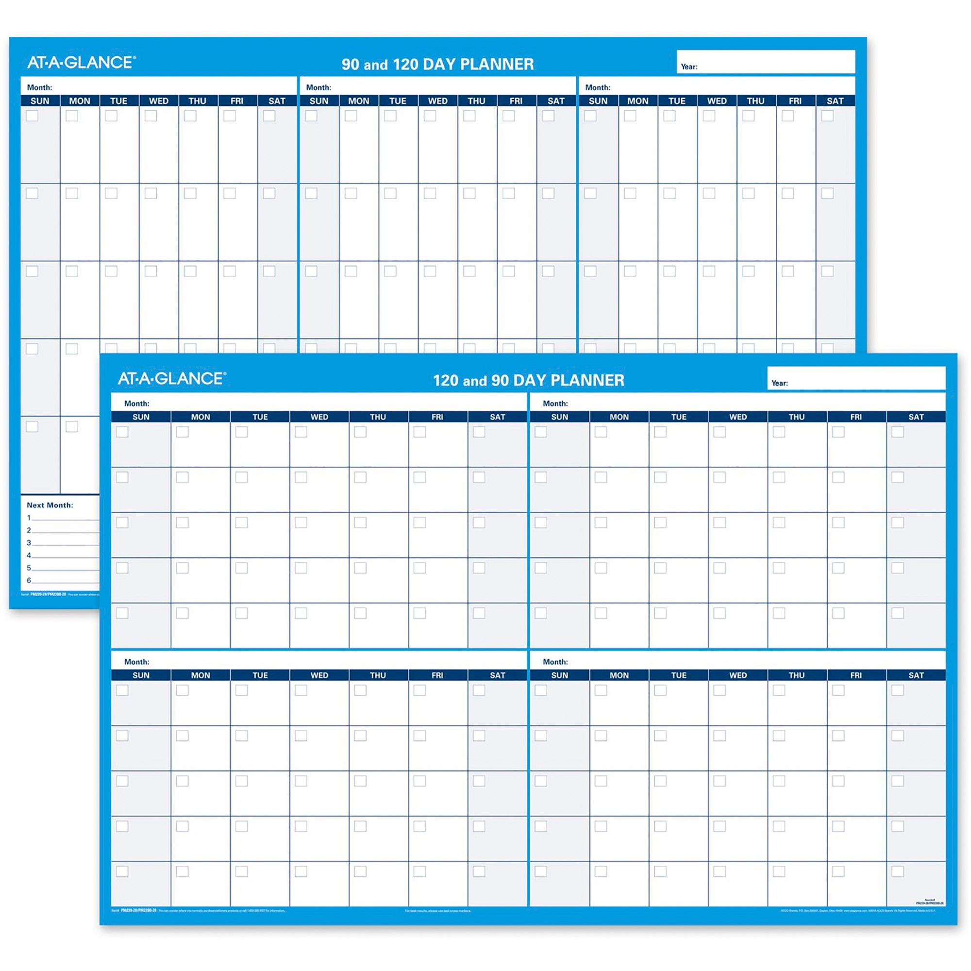 at a glance 90120 day erasable wall planner 36 x 24 wall mountable blue erasable laminated