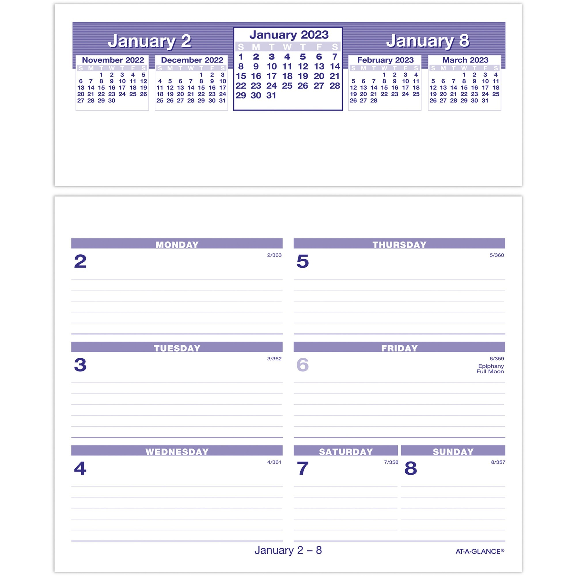 Product Aagsw705x50 At A Glance Flip A Week Desk Calendar