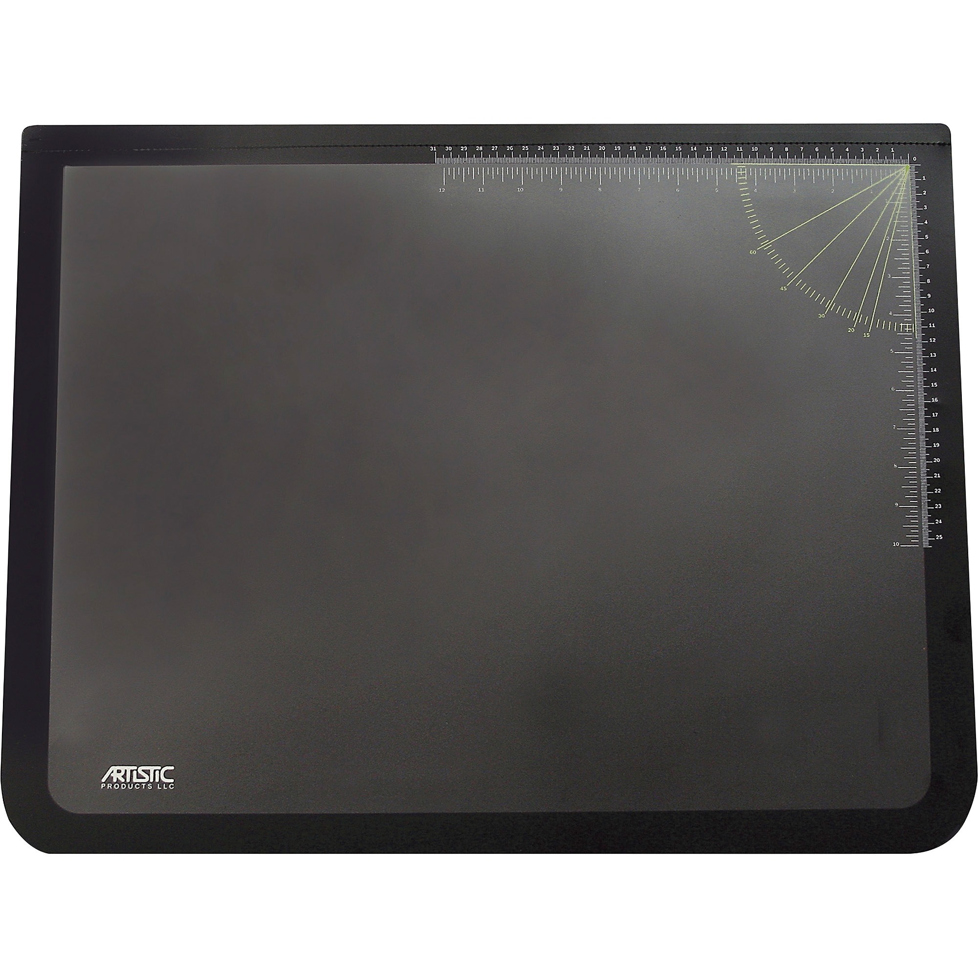 Artistic Logo Desktop Organizer Pad Rectangle 24 609 60 Mm Width X 19 482 Depth Rubber Plastic Black
