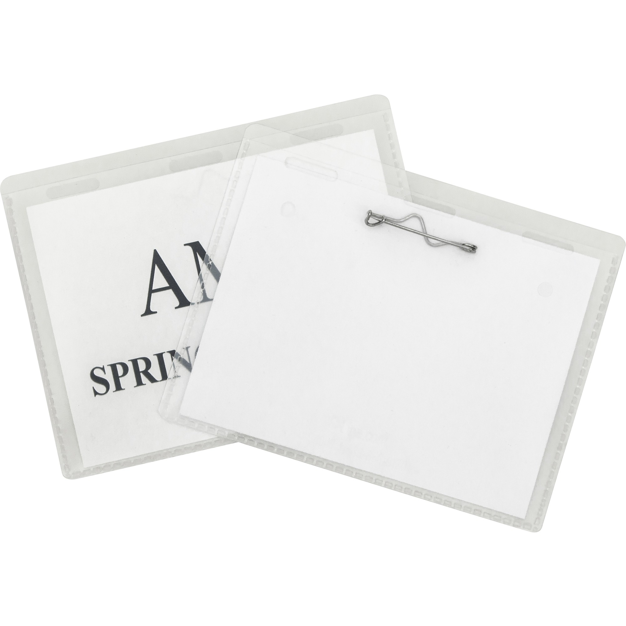C-Line Pin Style Folded Name Badge Holders - 2.30