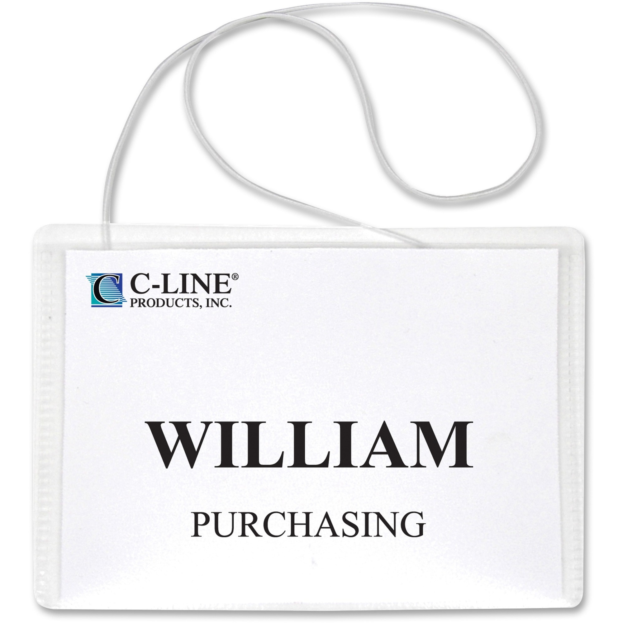 lowest price 1837d 1270f C-Line Hanging Style Name Badge Holders - 3