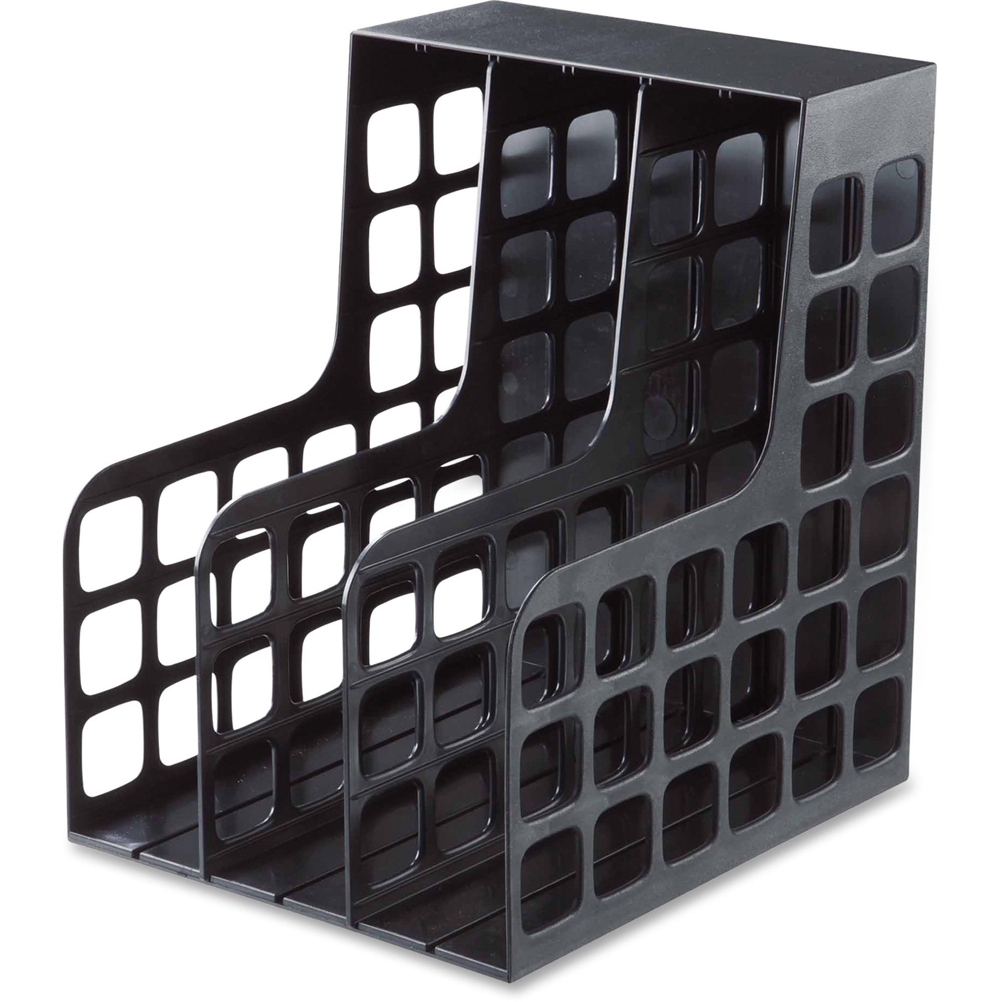 Oxford Decorack Shelf File 2 Divider S Black Plastic 1 Each