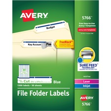 AVE5766 - Avery&reg Permanent File Folder Labels with TrueBlock Technology