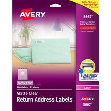 AVE5667 - Avery® Matte Clear Easy Peel Address Labels