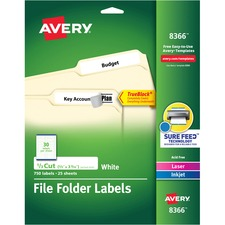 AVE8366 - Avery&reg Permanent File Folder Labels with TrueBlock Technology