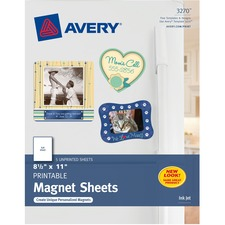 AVE 3270 Avery Inkjet Printable Magnetic Sheets AVE3270