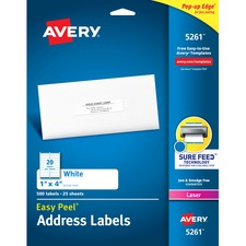 AVE5261 - Avery&reg Easy Peel® Address Labels with Sure Feed™ Technology