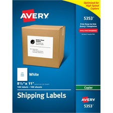 AVE5353 - Avery® Mailing Labels for Copiers