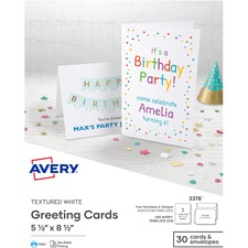 AVE 8315 Avery Custom Matte Note Cards w/Envelopes AVE8315