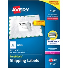 AVE 5168 Avery Easy Peel White Shipping Labels AVE5168