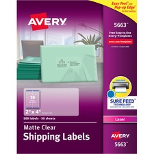 AVE5663 - Avery® Matte Clear Easy Peel Shipping Labels