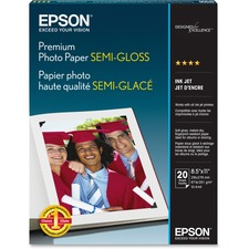 EPS S041331 Epson Premium Semi-Gloss Photo Paper EPSS041331